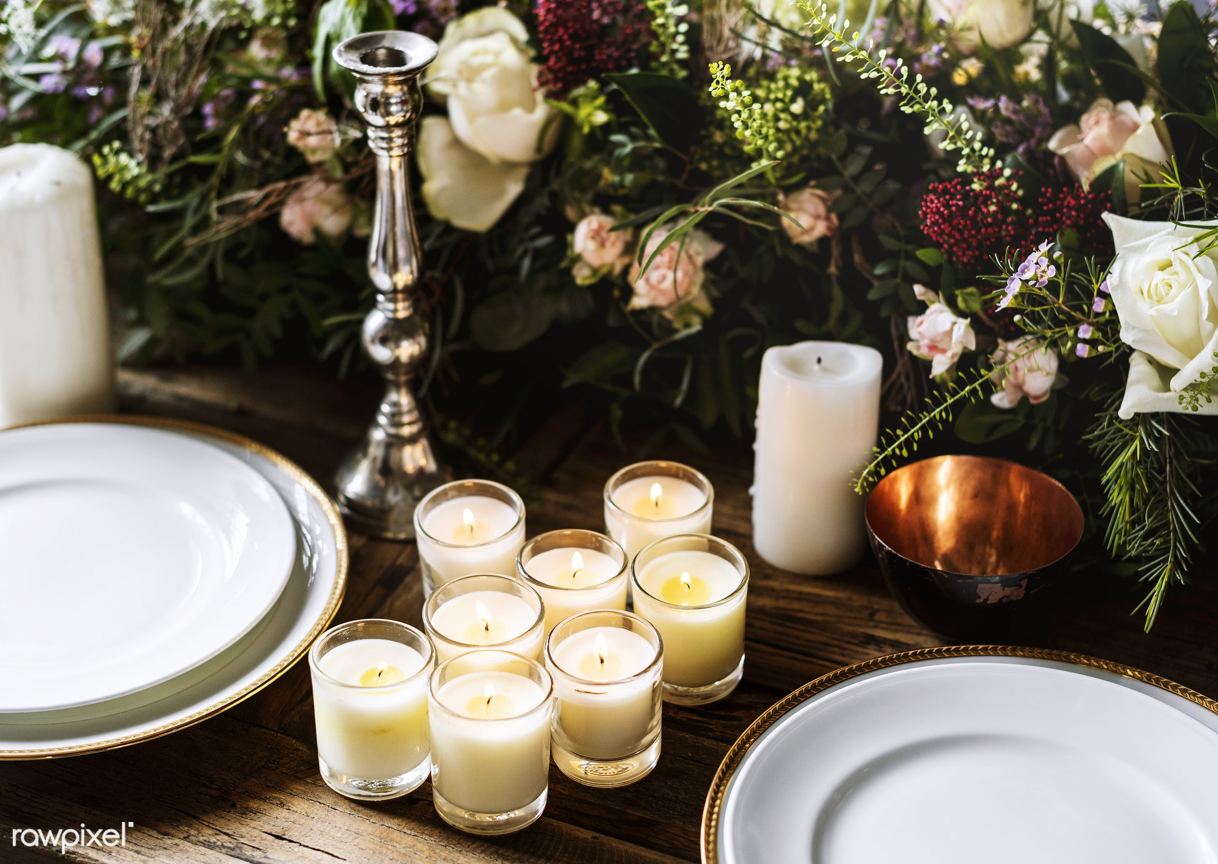 Elegant Restaurant Table Setting Service for Reception - table, event, party, service, meal, luxury, banquet, arrangement,...