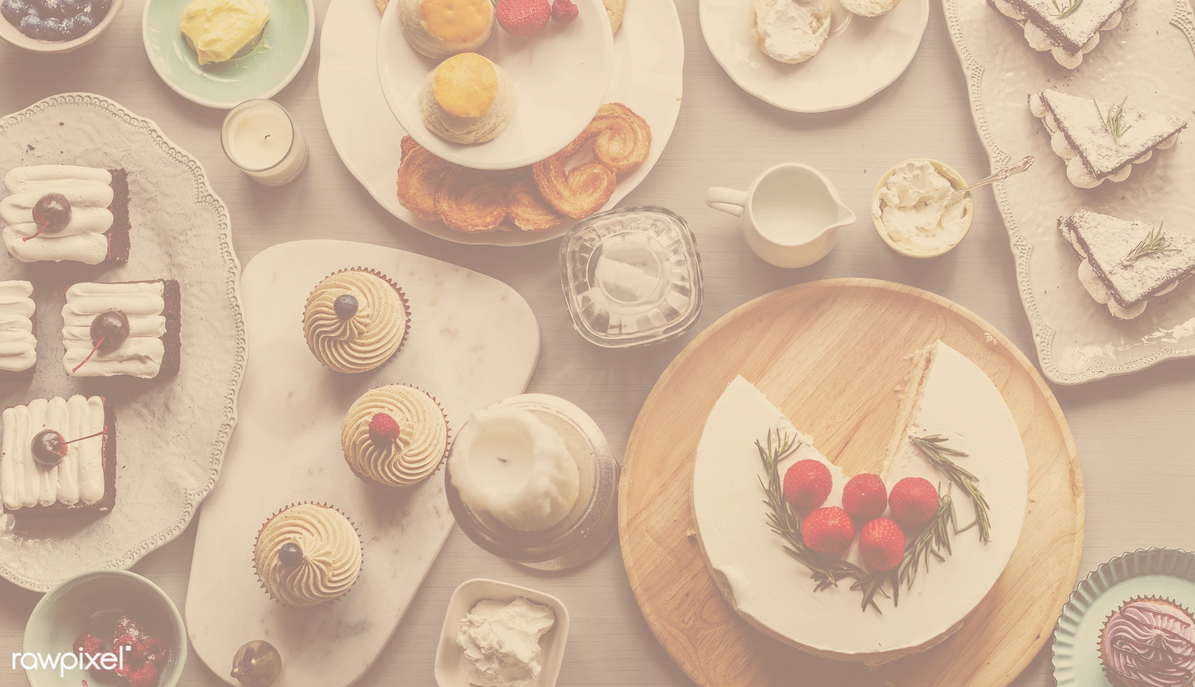 tea time, nobody, birthday, relax, occasion, tea, party, bakery, celebrate, dessert, sweets, delicious, snack, tasty, cakes...