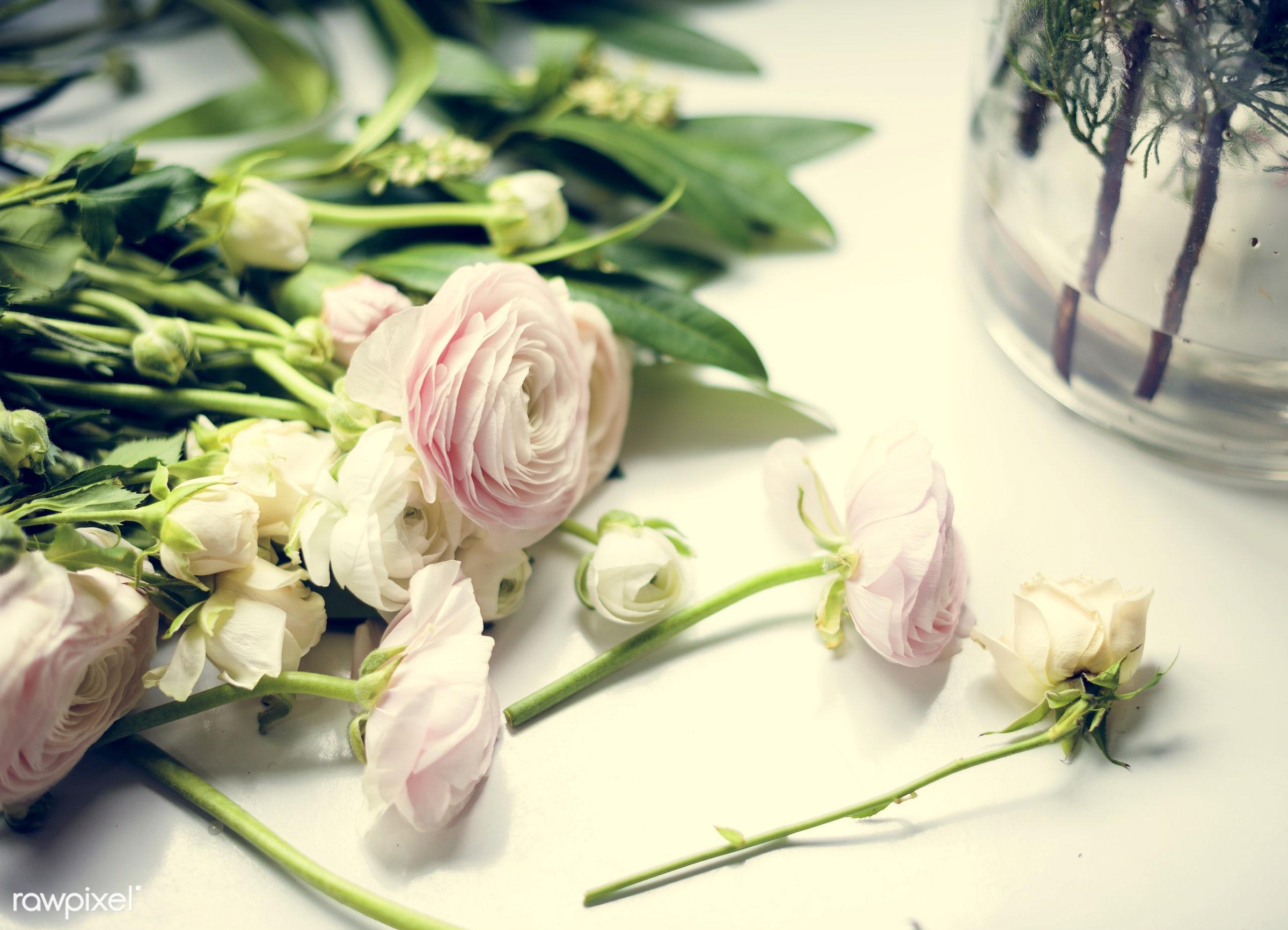festive, nobody, shop, detail, ranunculus, decorative, colorful, plants, spring, blossom, decor, nature, fresh, attractive,...