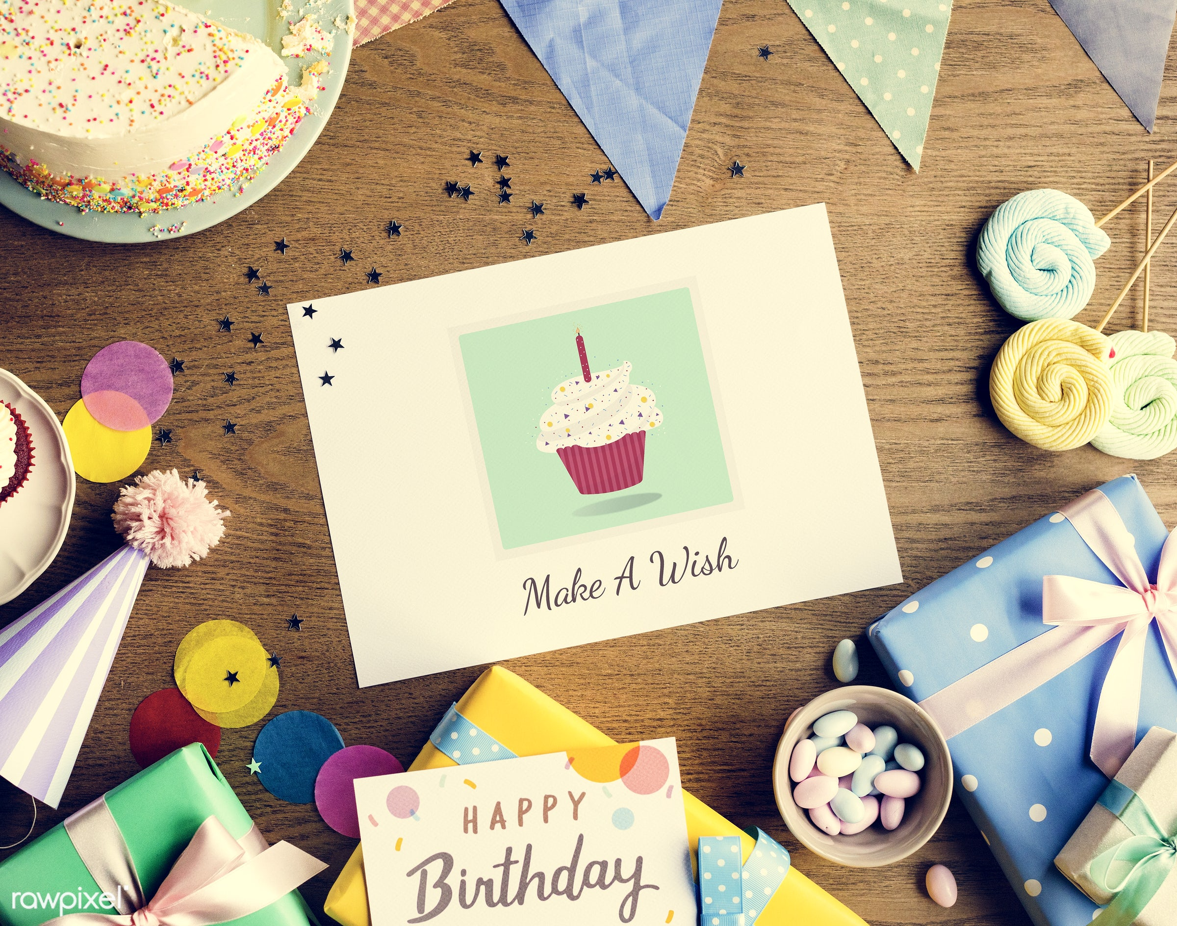 birthday, nobody, gift, graphic, relax, wish, occasion, show, party, hat, bakery, happy, gather, gathering, wooden...