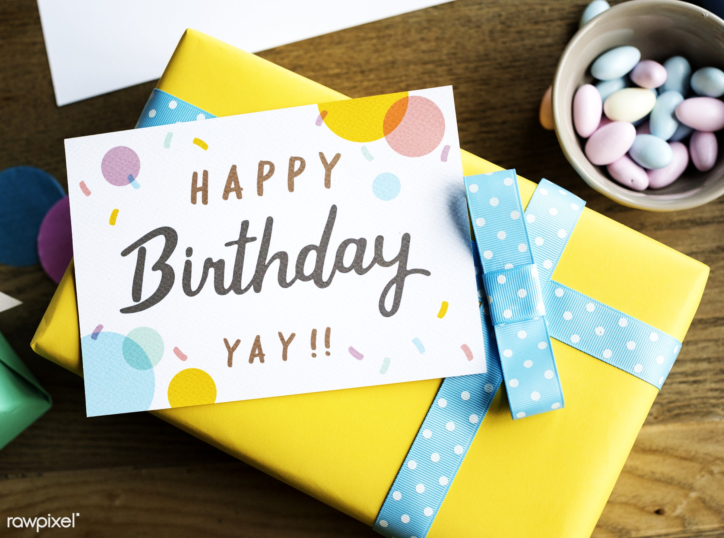 Birthday Present Gift  with Wishing Card Celebration Party - nobody, birthday, gift, give, relax, wish, paper, occasion,...