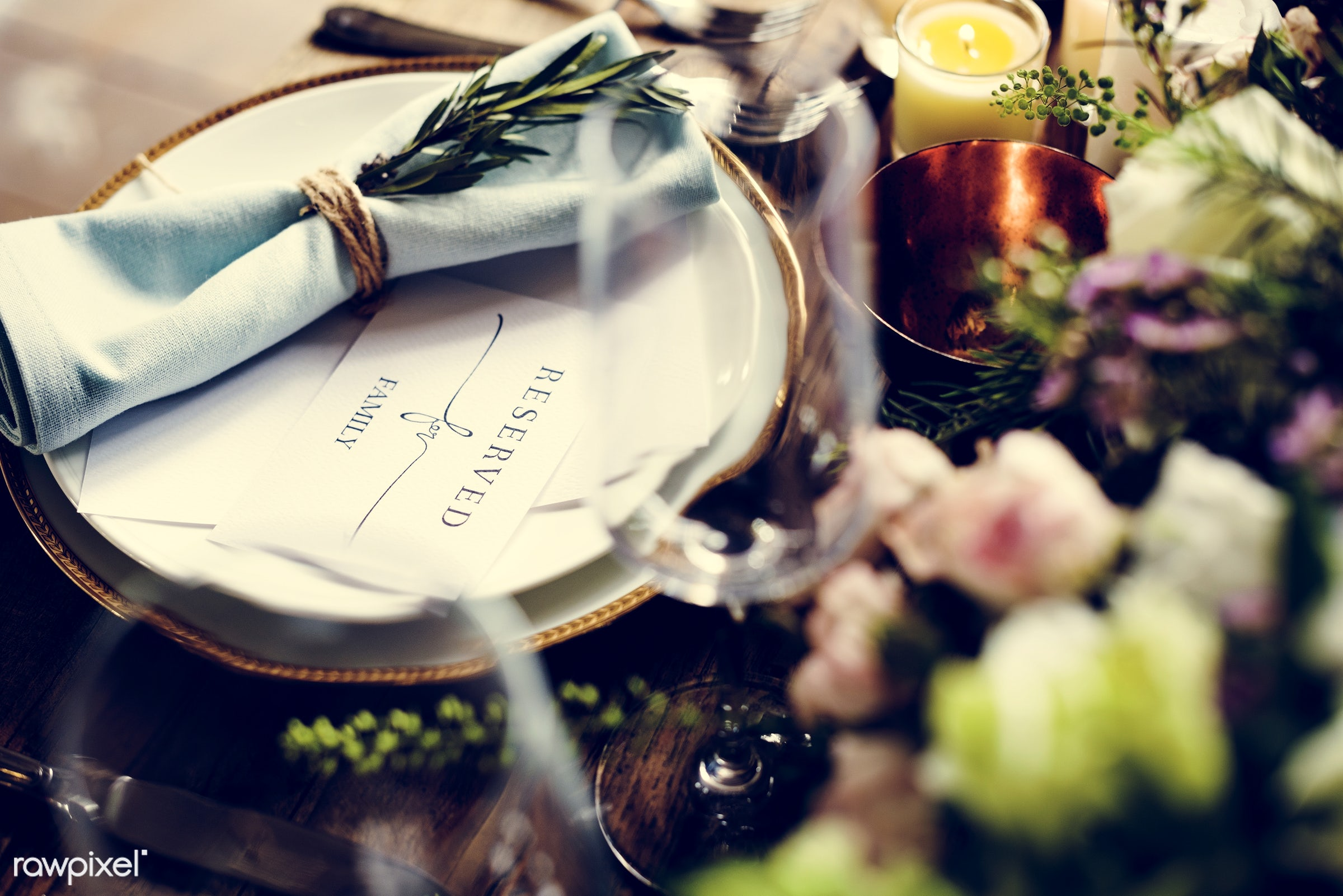 dish, nobody, fancy, cutlery, silverware, party, tablecloth, event, candles, banquet, lunch, flowers, plate, table,...