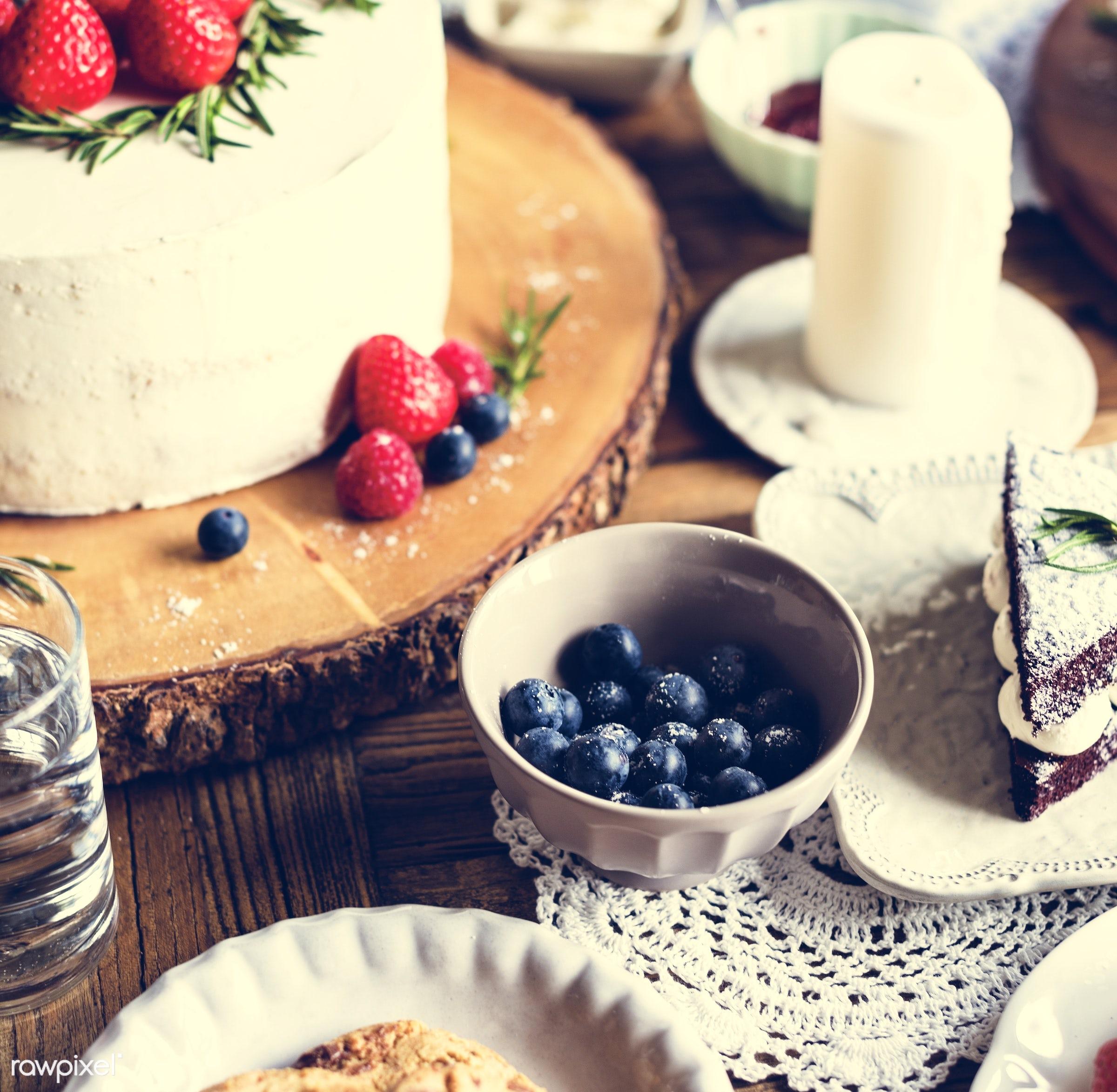 dish, nobody, blueberry, recipe, party, tea, tea party, break, bakery, frosting, event, gourmet, dessert, cake, fruit,...