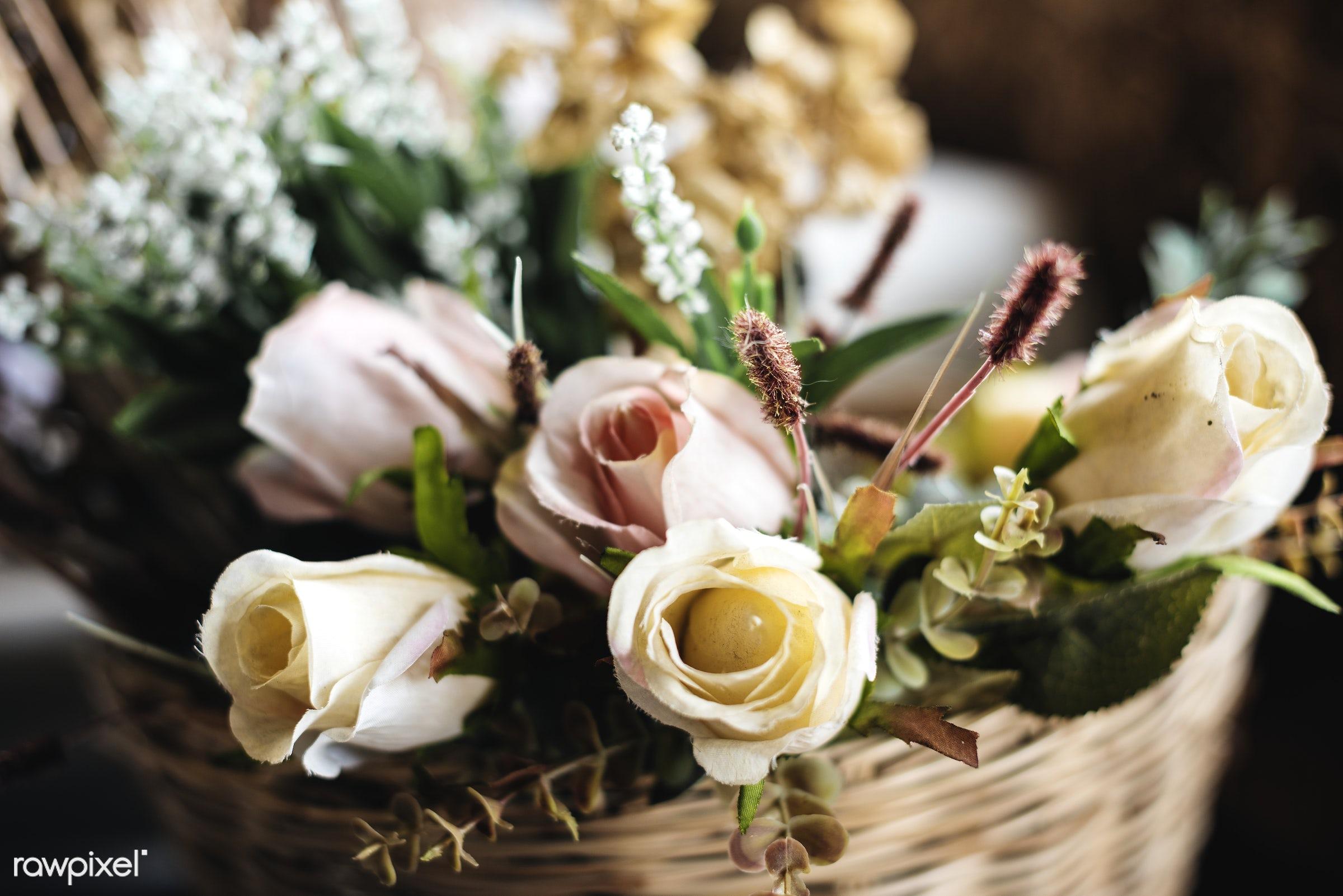 Fresh Roses Flowers Arrangement Decorative - rose, floral, arrangement, attractive, beautiful, bloom, blooming, blossom,...