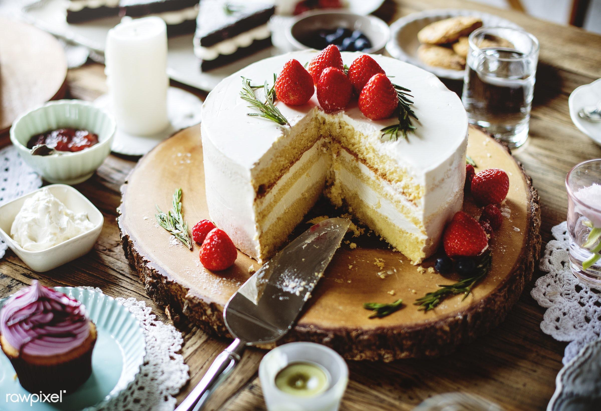 Cakes Delicious Dessert Bakery Event Party Reception - sweet, strawberry, bake, baked, bakery, birthday, break, cake, cakes...