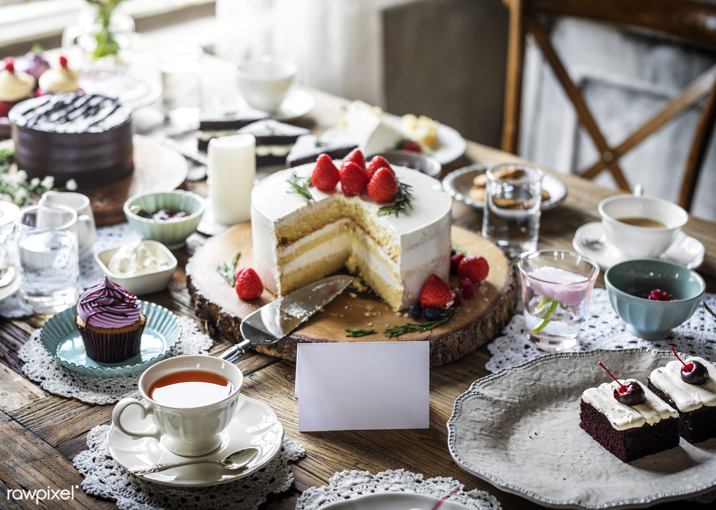 nobody, tea time, relax, occasion, party, together, bakery, gather, event, celebrate, dessert, cake, sweets, happiness,...