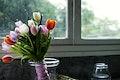 Fresh Tulips Flowers Arrangement Decorative