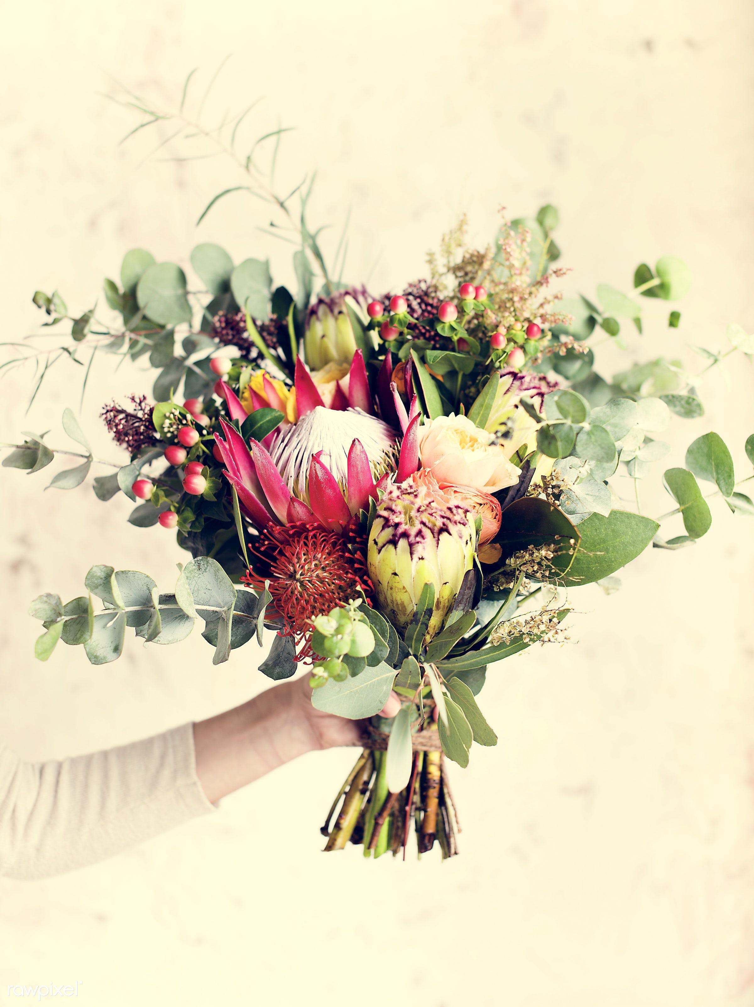 bouquet, person, detail, decorative, colorful, holding, diverse, events, plants, show, spring, people, blossom, love, decor...