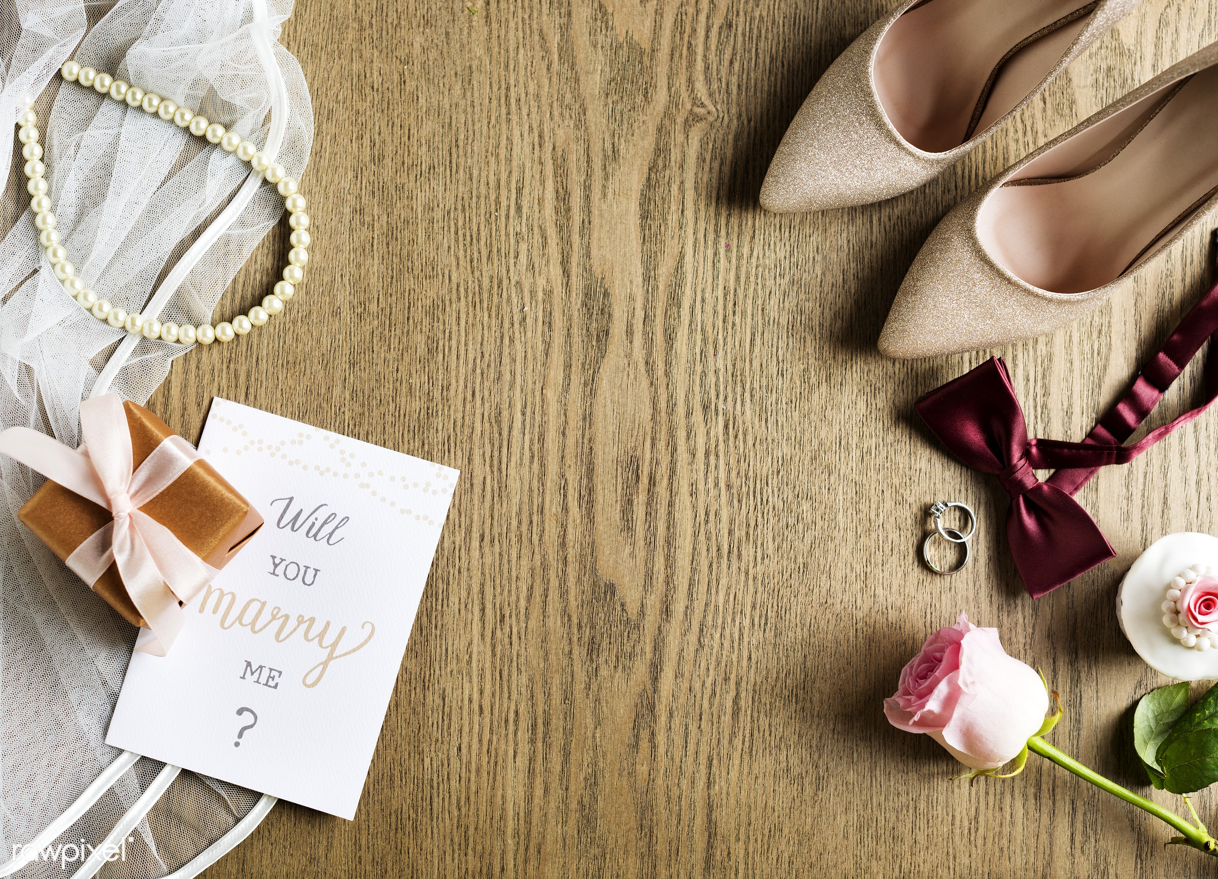 nobody, smitten, together, love, propose, woman, lifestyle, card, gown, pink, rings, heels, cheerful, marry, shoes, asking,...