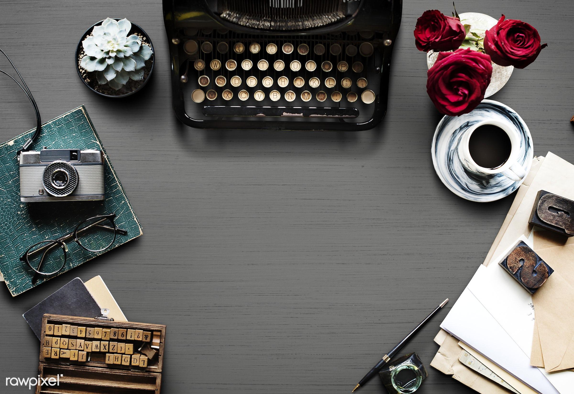 journalism, succulent, unique, glasses, copyspace, paper, envelope, retro, equipment, desk, author, ancient, style,...
