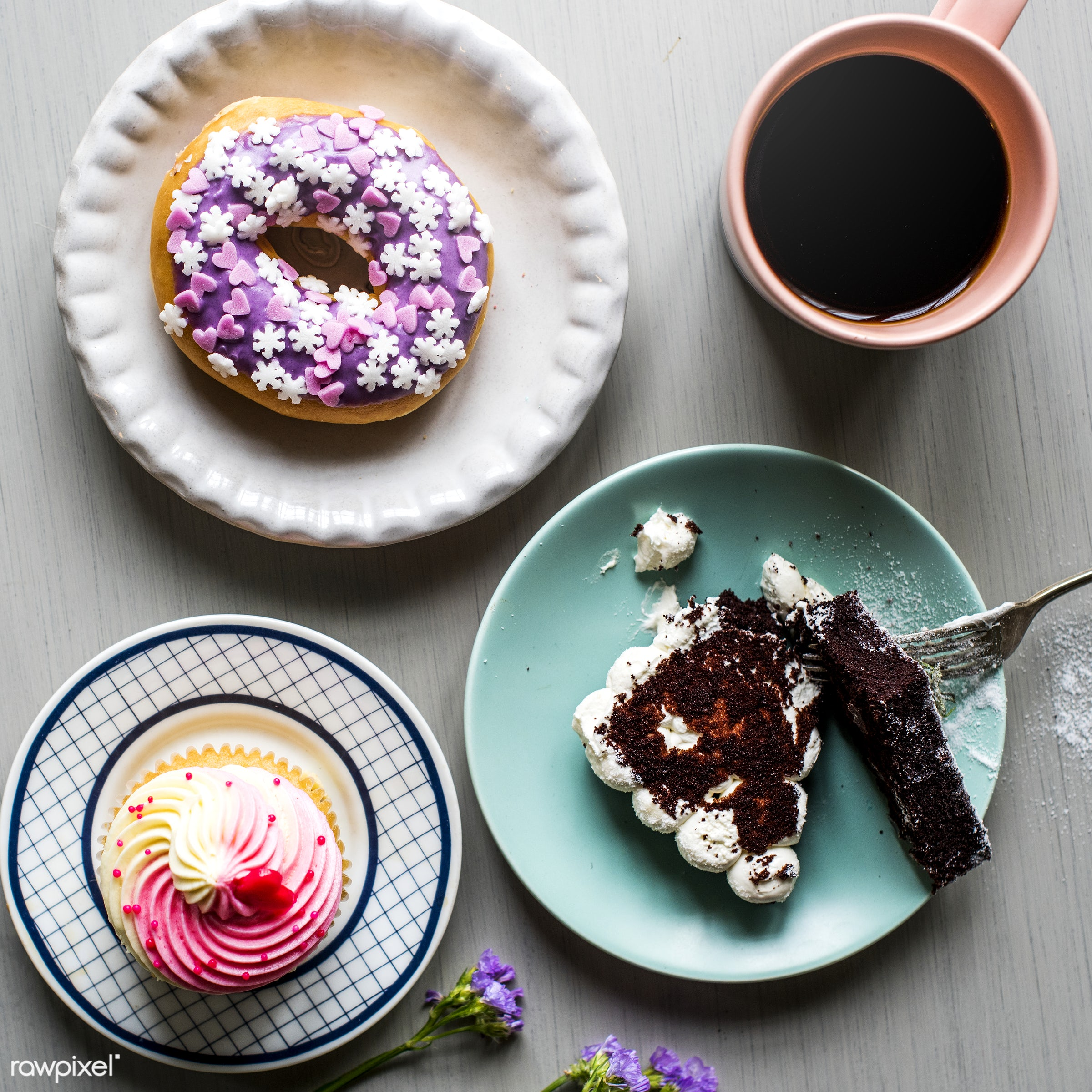cup, dish, nobody, recipe, donut, occasion, appetite, party, taste, baked, break, event, flowers, celebrate, gourmet,...
