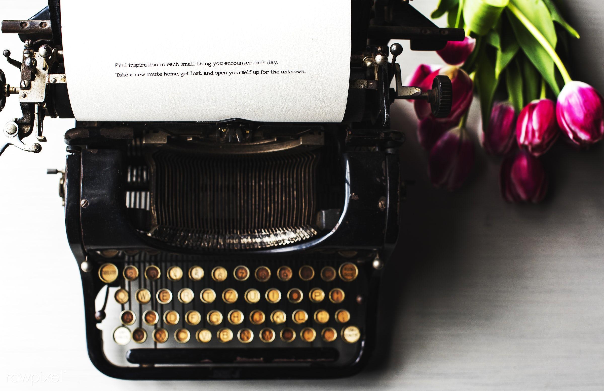 journalism, paper, typescript, retro, desk, type, reporter, author, document, typewriter, report, write, publish, writer,...