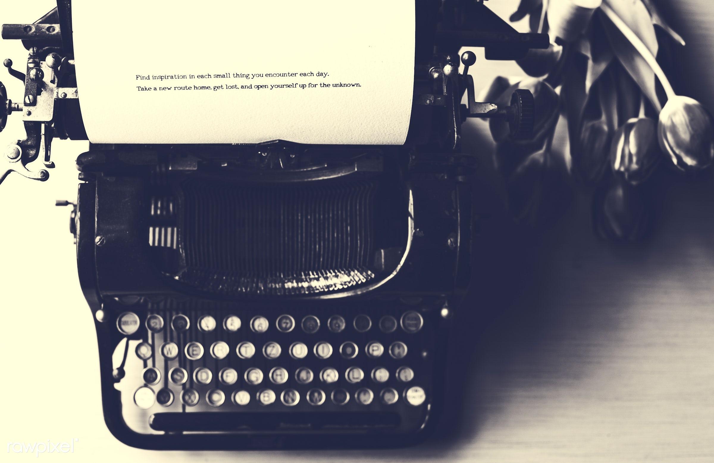 journalism, paper, typescript, retro, desk, type, reporter, author, document, typewriter, write, report, publish, writer,...
