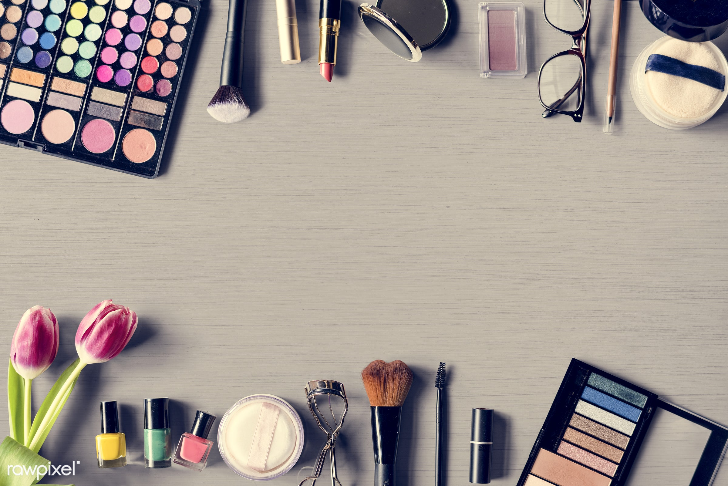 face, apply, nobody, fashion, nail polish, decorative, makeup, treatment, palette, powder, tulips, beauty, collection,...