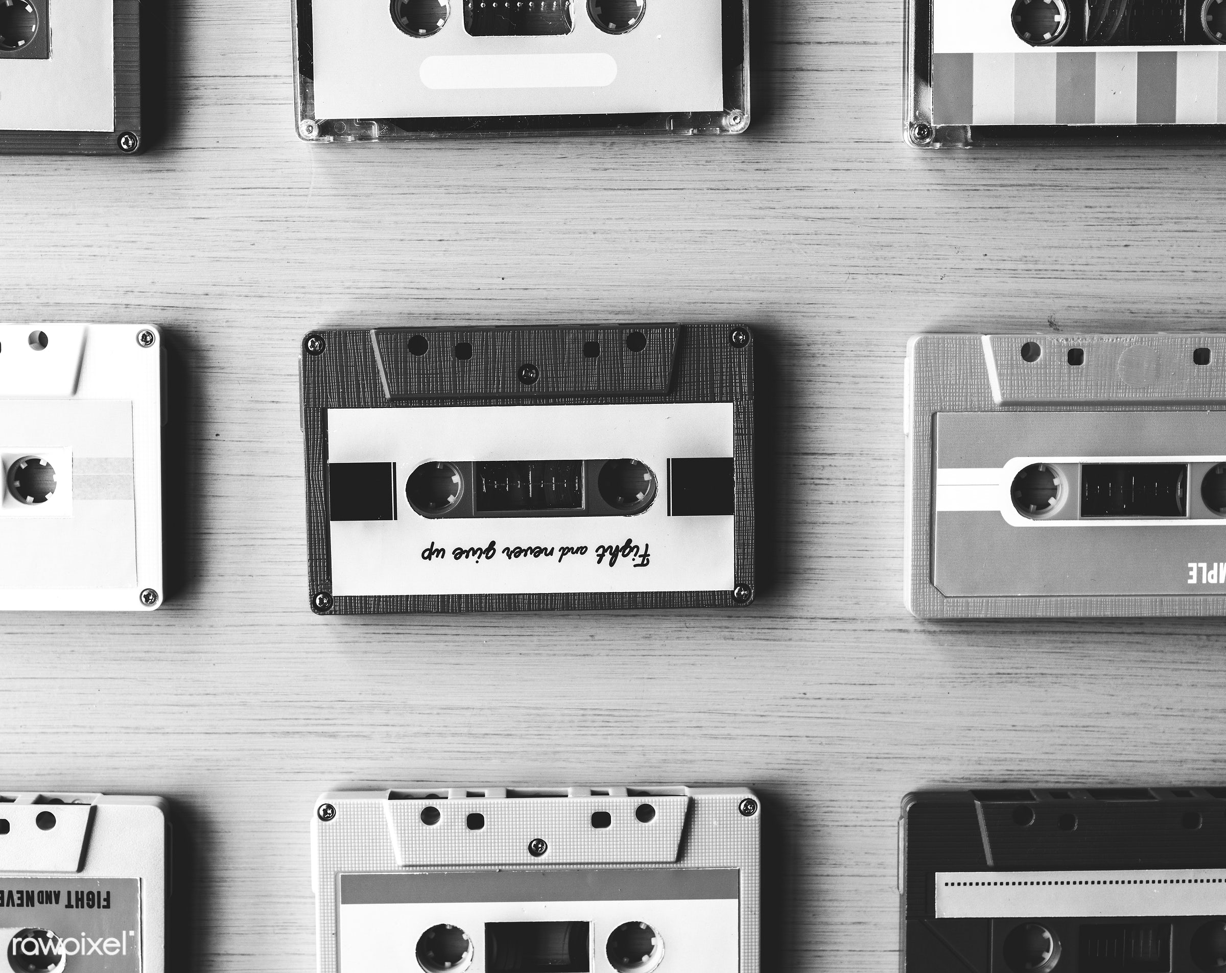 old, retro, equipment, tape, collection, used, aged, compact, style, classic, cassette, music, audio, vintage, obsolete, old...