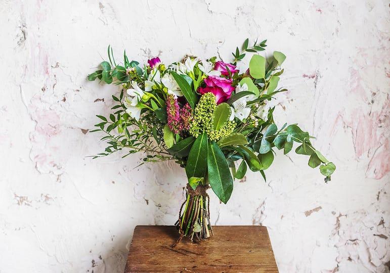 Fresh Flowers in Vase Arrangement Decorative