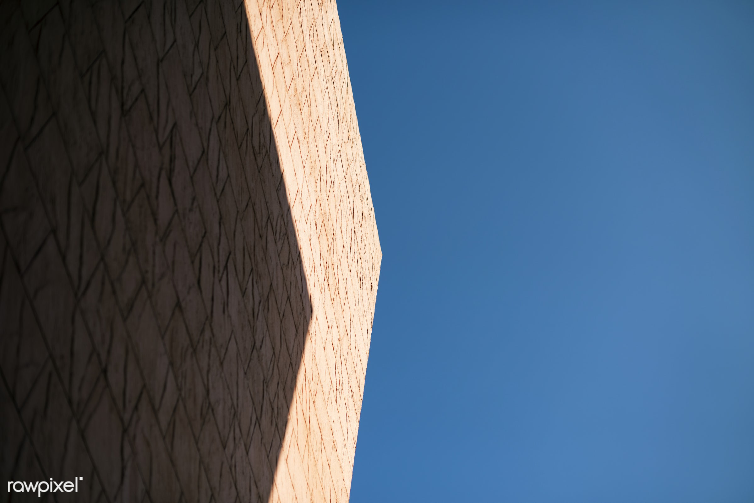 abstract, architecture, brick, building, concrete, construction, design, exterior, shadow, sky, structure