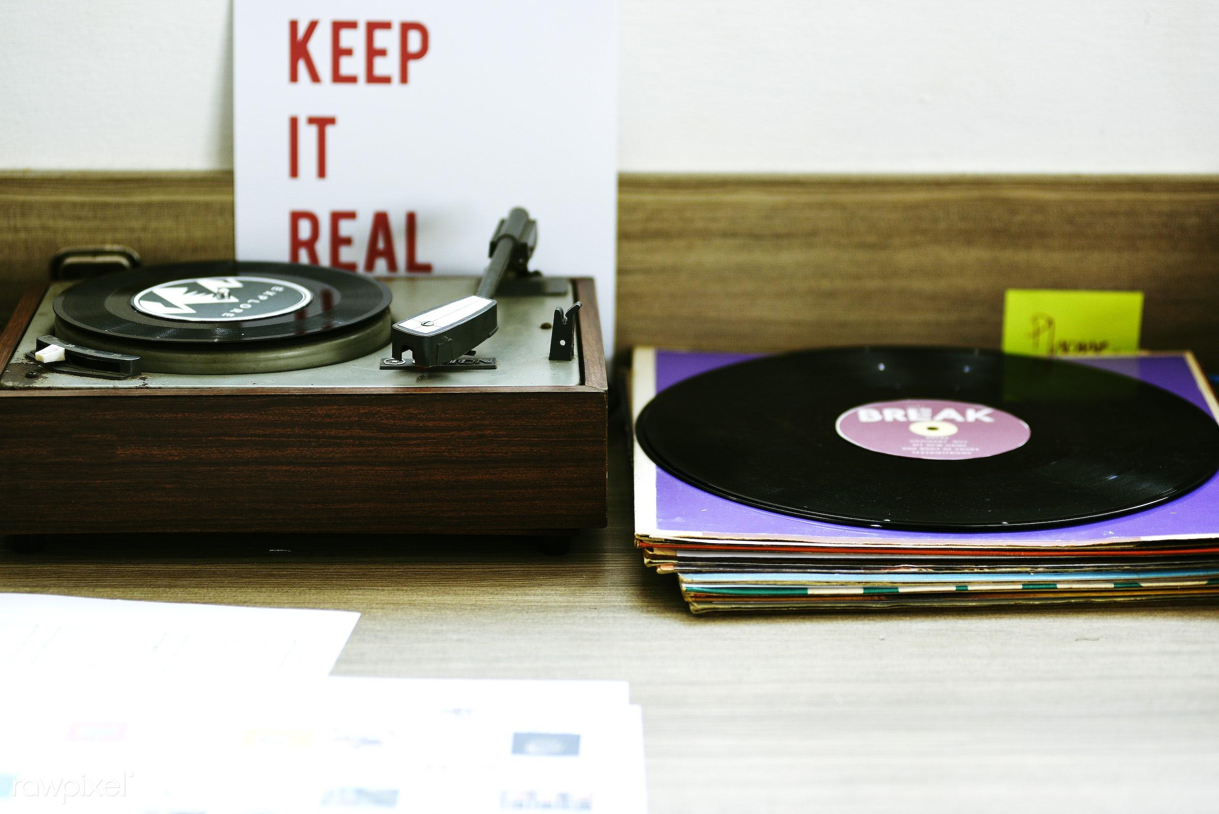 audio, classic, disc, disco, disk, entertain, entertainment, gramophone, keep it real, leisure, media, music, nobody,...
