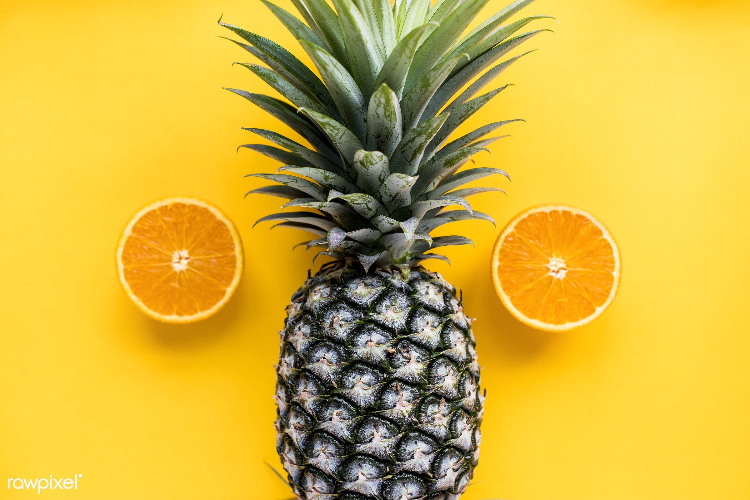 orange, isolated, tropical, refreshment, fruits, fresh, food, pineapple, vitamin, natural