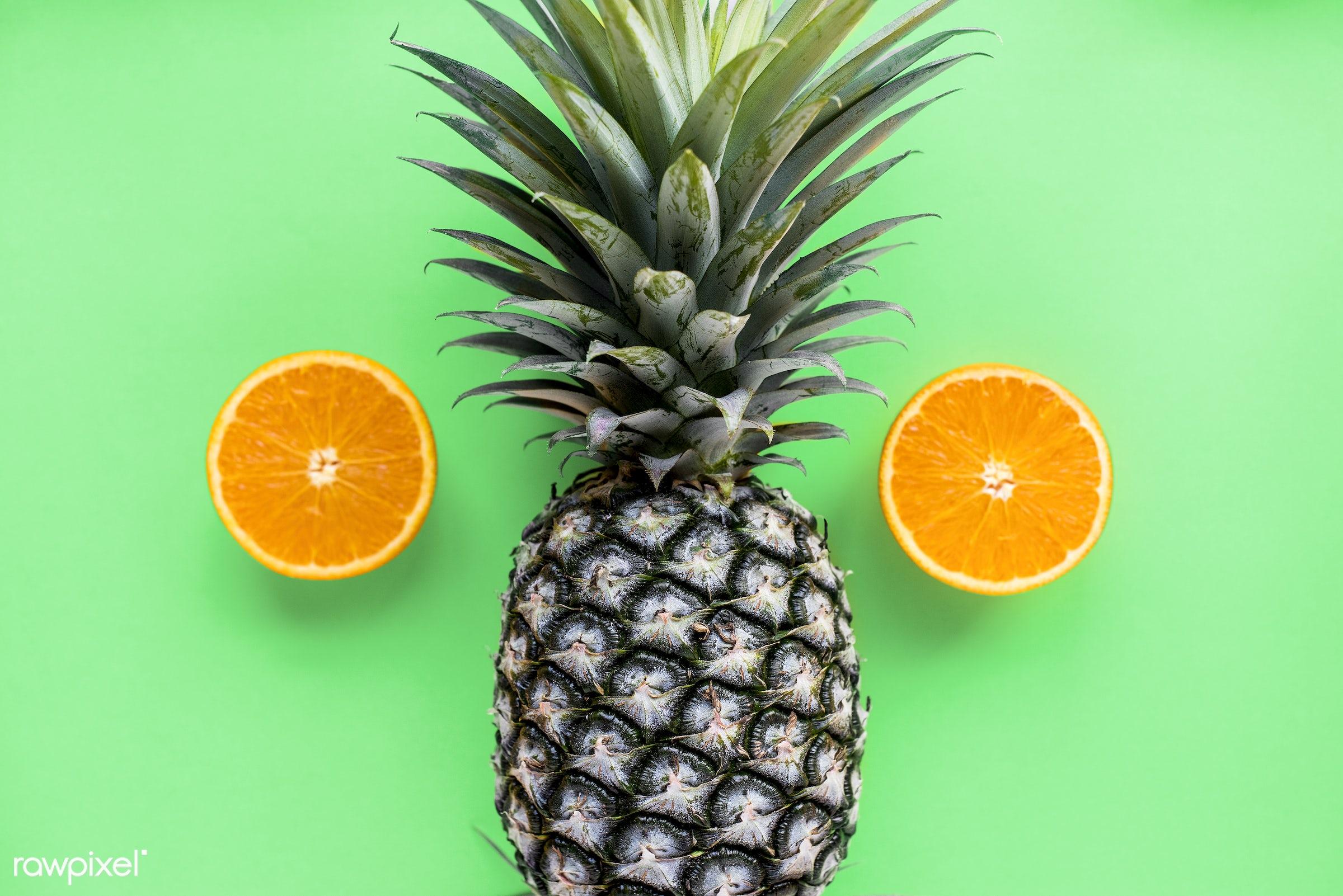 juicy, nutritious, tropical, round, refreshing, hawaiian, vitamins, fresh, juice, antioxidant, piece, orange, isolated,...