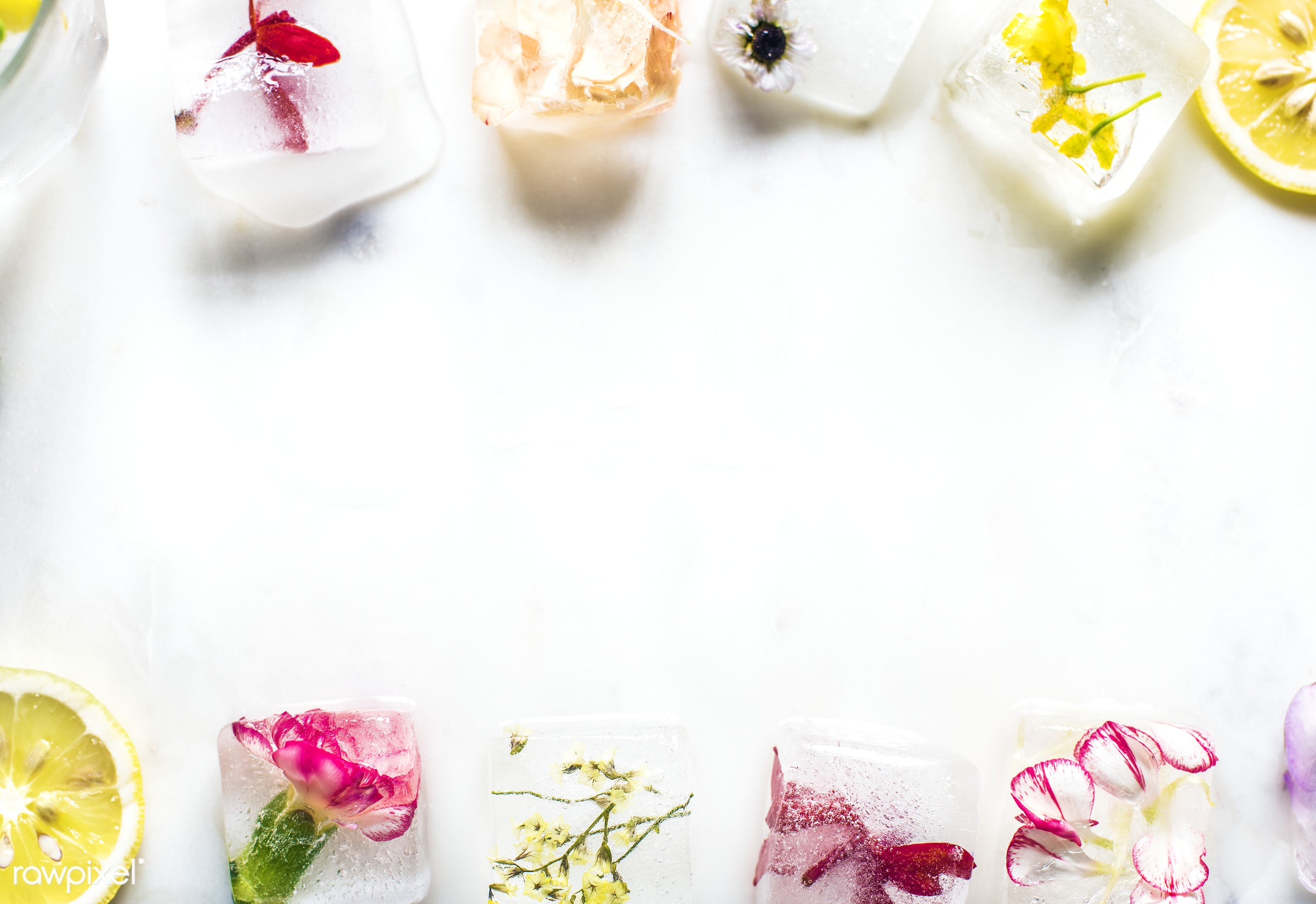refrigerated, drop, homemade, frozen, refreshing, cold, ice, cooling, flowers, flower, cool, vintage, refreshment, cubes,...