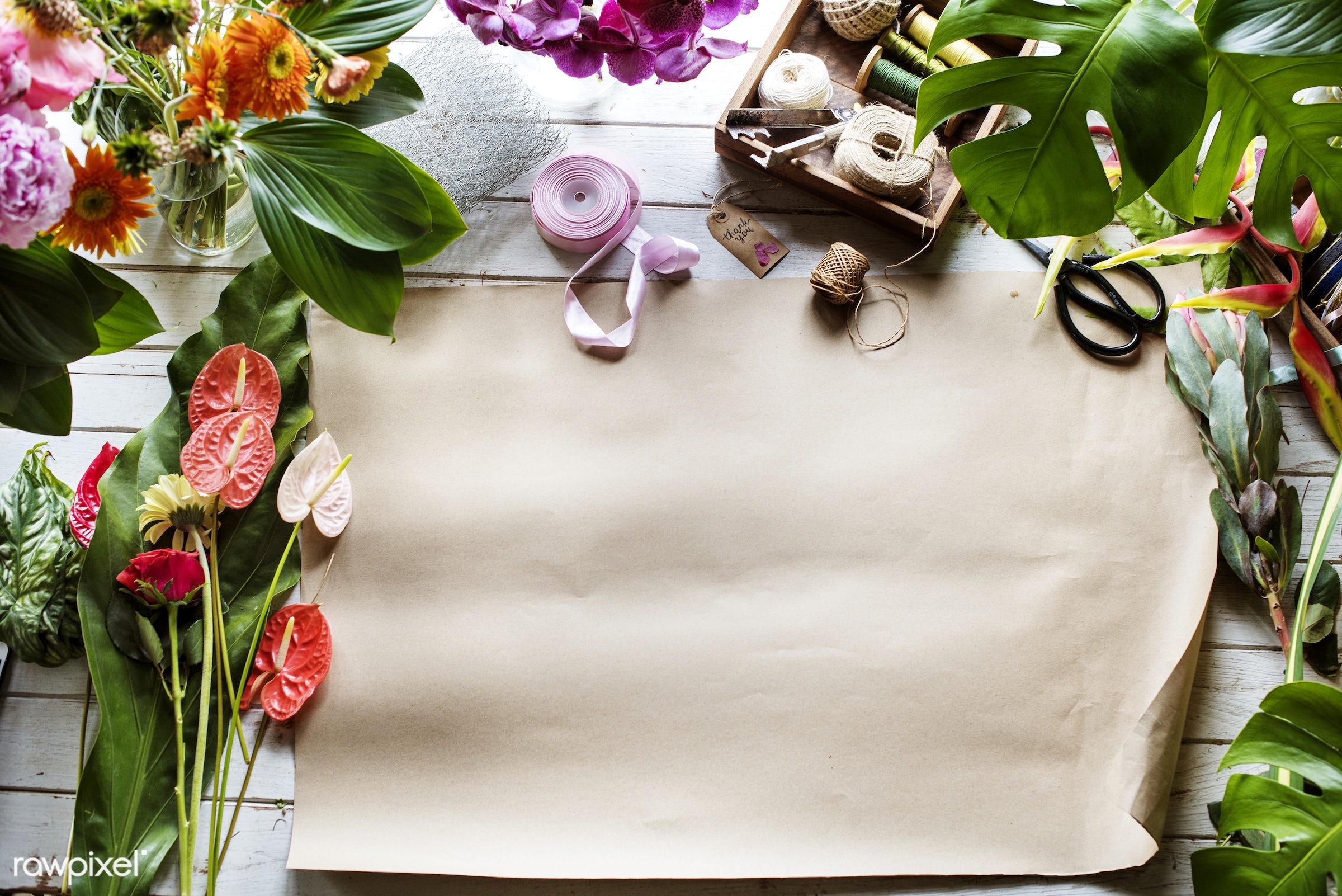 plant, bouquet, shop, concept, decorative, botany, paper, leaf, botanical, romance, blossom, decor, fresh, foliage, bunch,...