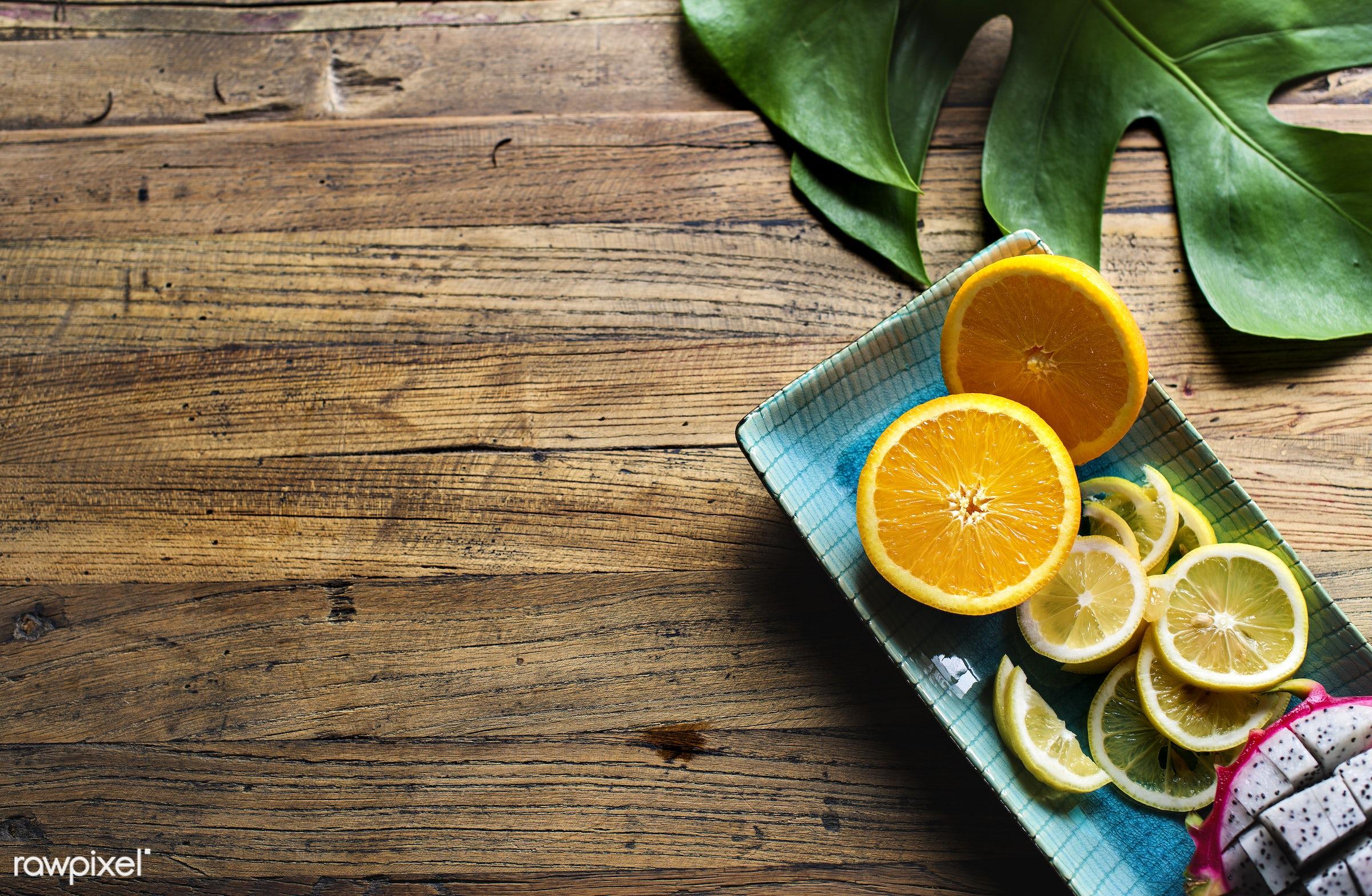 juicy, cuisine, tropical, dragon fruit, fresh, assorted, vegetarian, ingredient, piece, orange, fruit, green, mix, organic,...