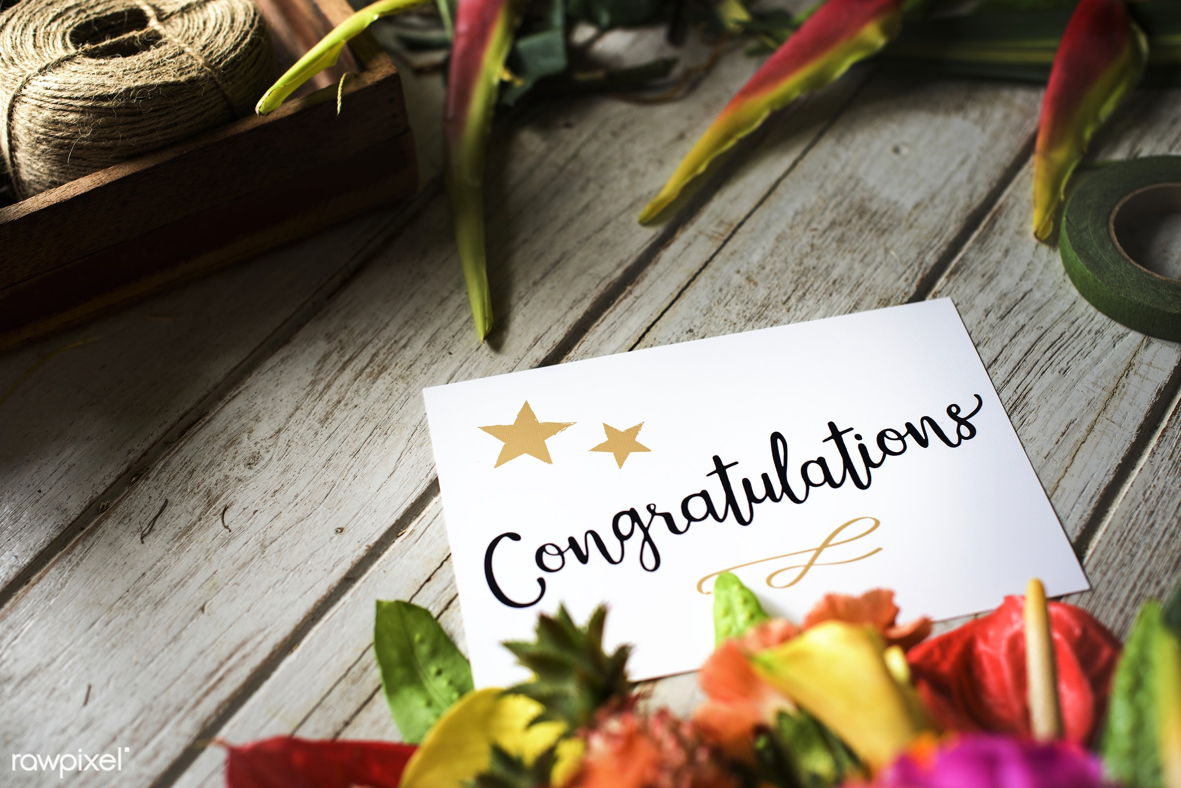 expression, bouquet, leaves, congratulations, congrats, card, cheerful, flower, victory, achievement, greeting, honor,...