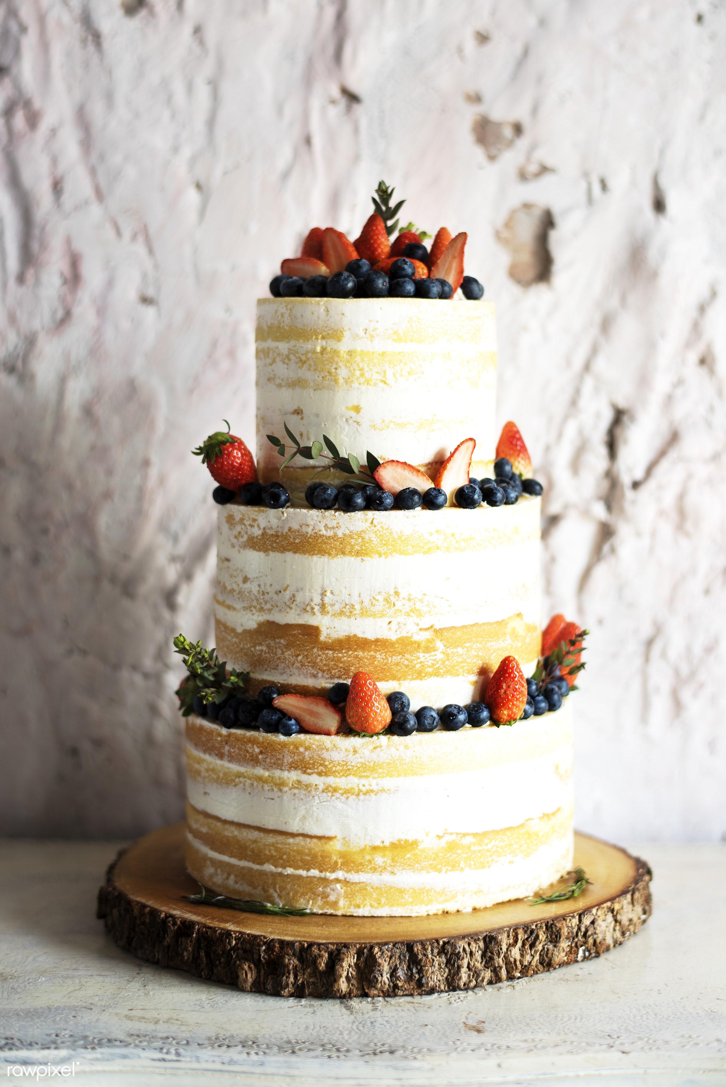 cake, wedding, banquet, bakery, berries, blueberry, celebration, ceremony, decoration, dessert, event, layers, marriage,...