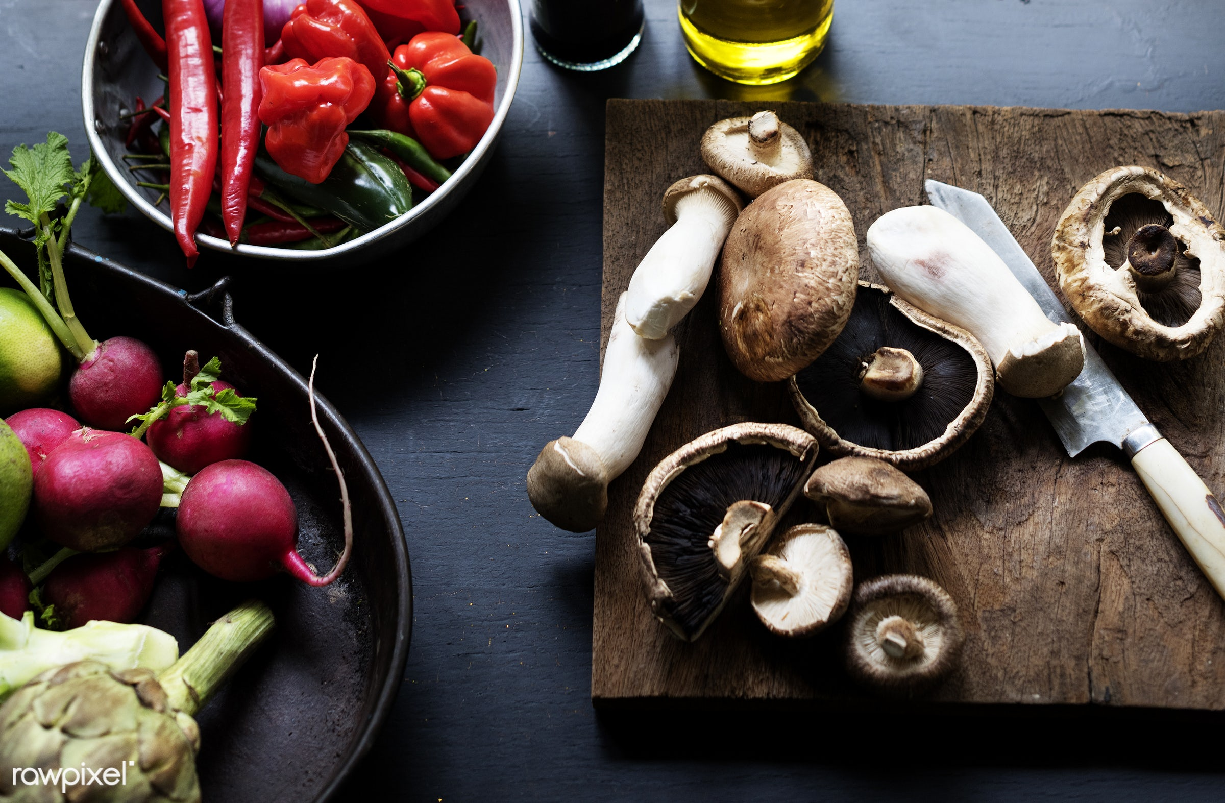 different, mushroom, raw, variation, turnips, bell pepper, gastronomy, type, kind, fresh, vegetarian, ingredient, cooking,...