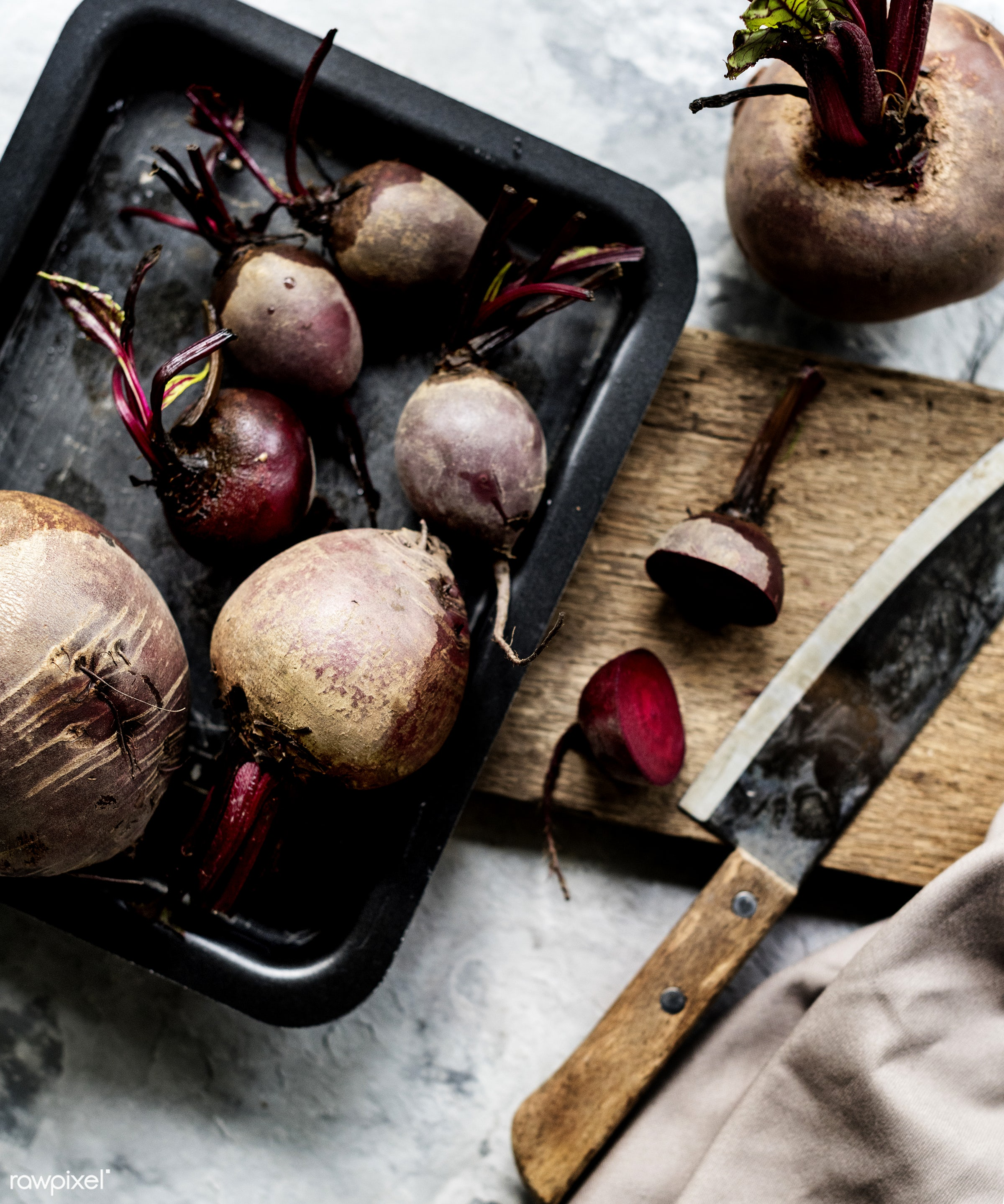 raw, gastronomy, beet roots, type, kind, fresh, cooking, vegetarian, ingredient, gourmet, knife, nourishment, cutting board...