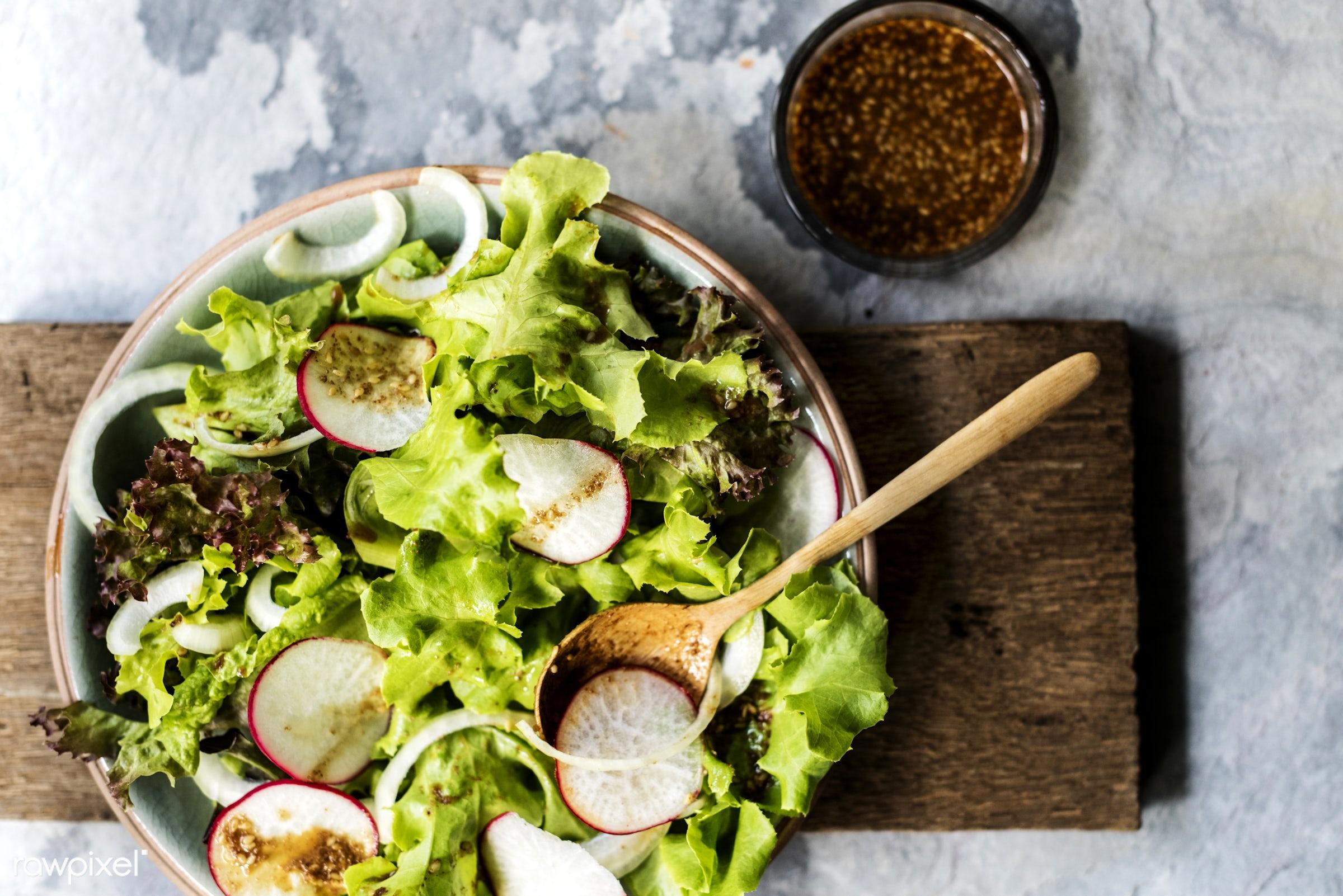 raw, salad, salad dressing, gastronomy, fresh, ingredient, cooking, vegetarian, gourmet, nourishment, cutting board,...
