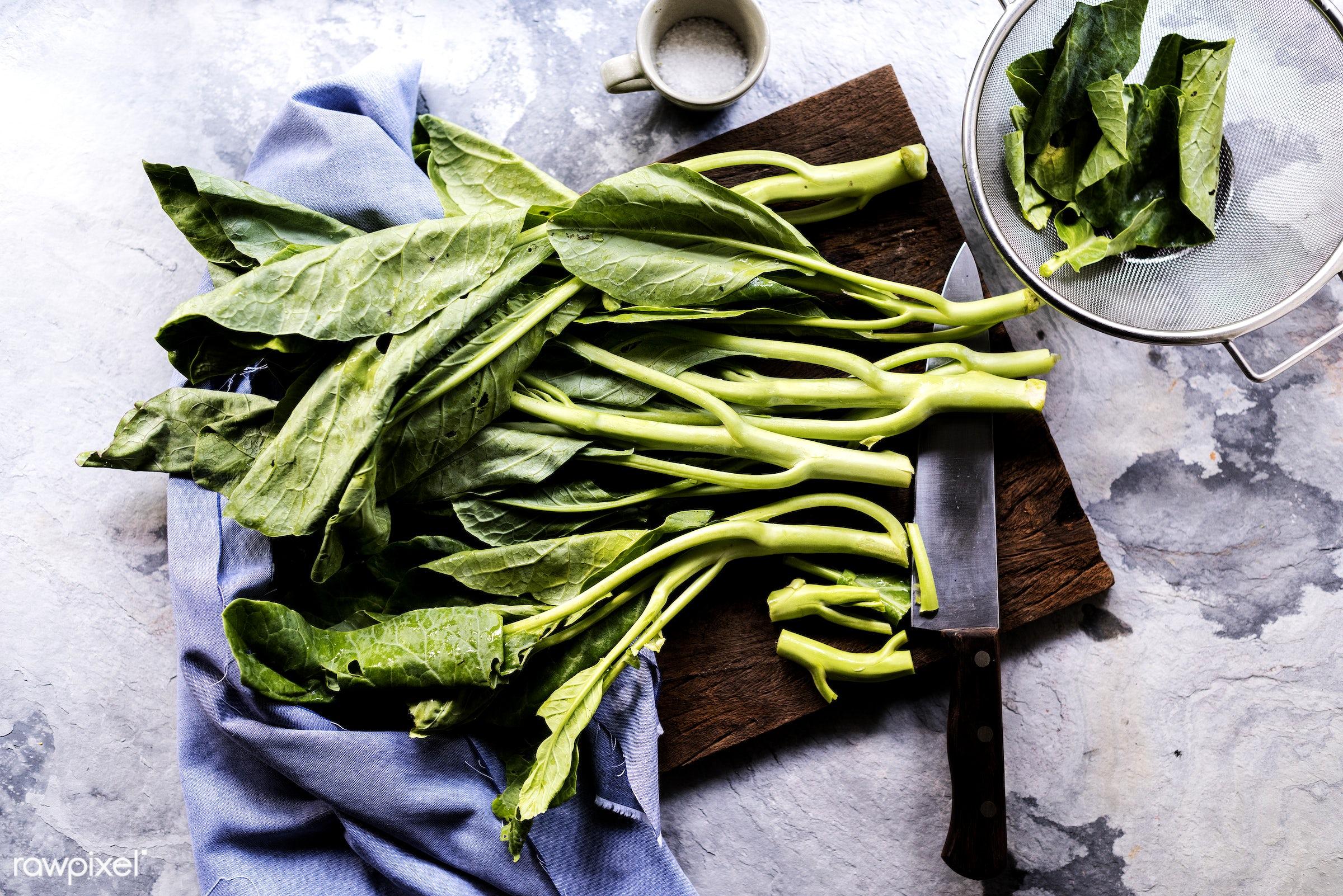 raw, chinese kale, gastronomy, type, kind, fresh, cooking, vegetarian, ingredient, gourmet, knife, nourishment, vegetables,...