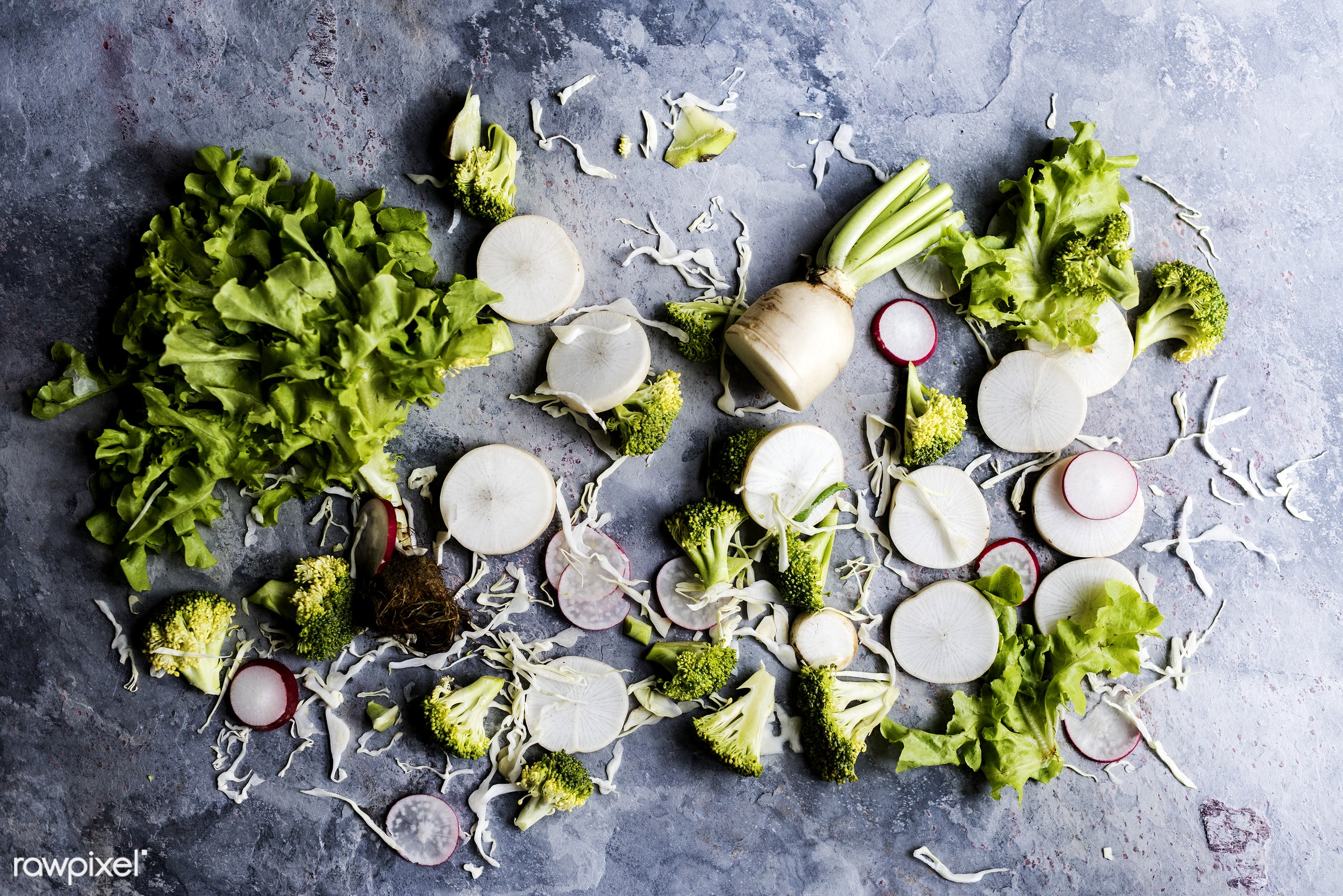 raw, salad, nobody, grunge background, diverse, ingredients, farm, nature, fresh, mixed, broccoli, various, aerial view,...