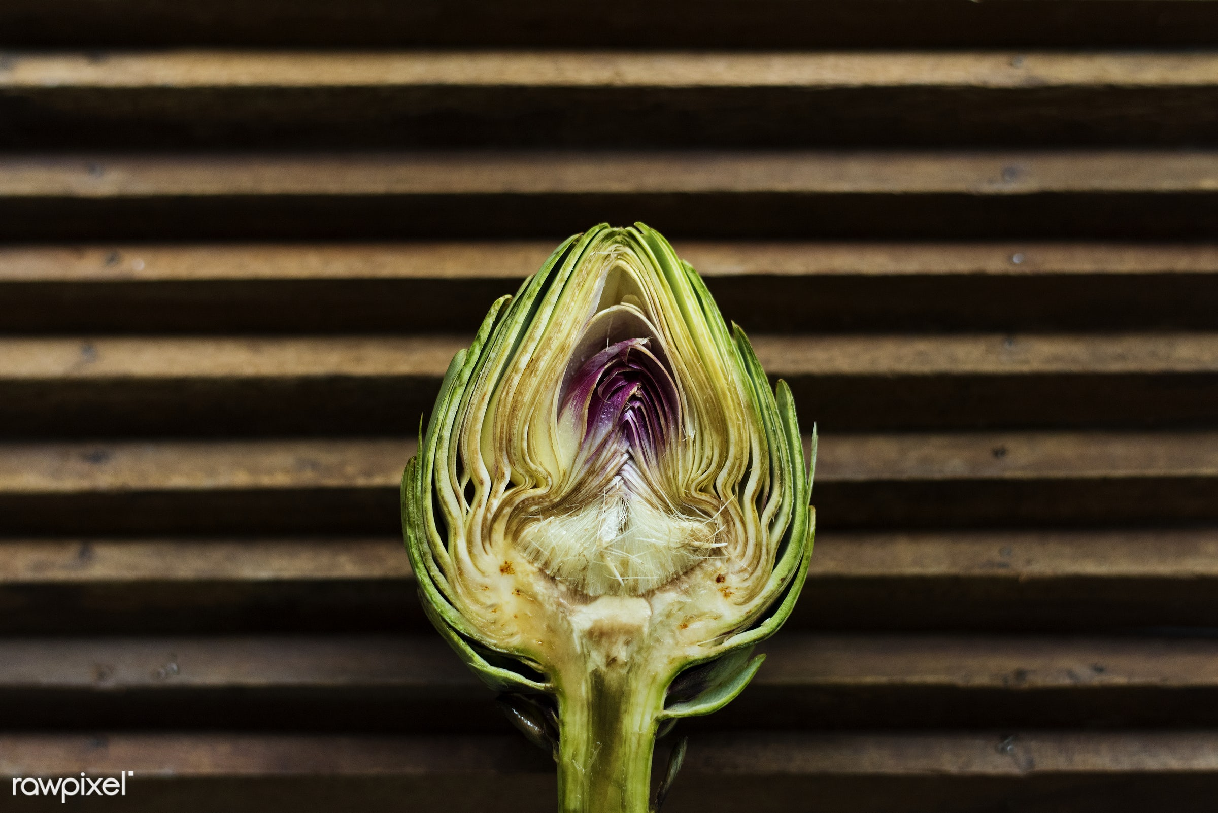 superfood, nobody, green, half, real, organic, artichoke, nature, fresh, cut, bud, vegetable, closeup, healthcare