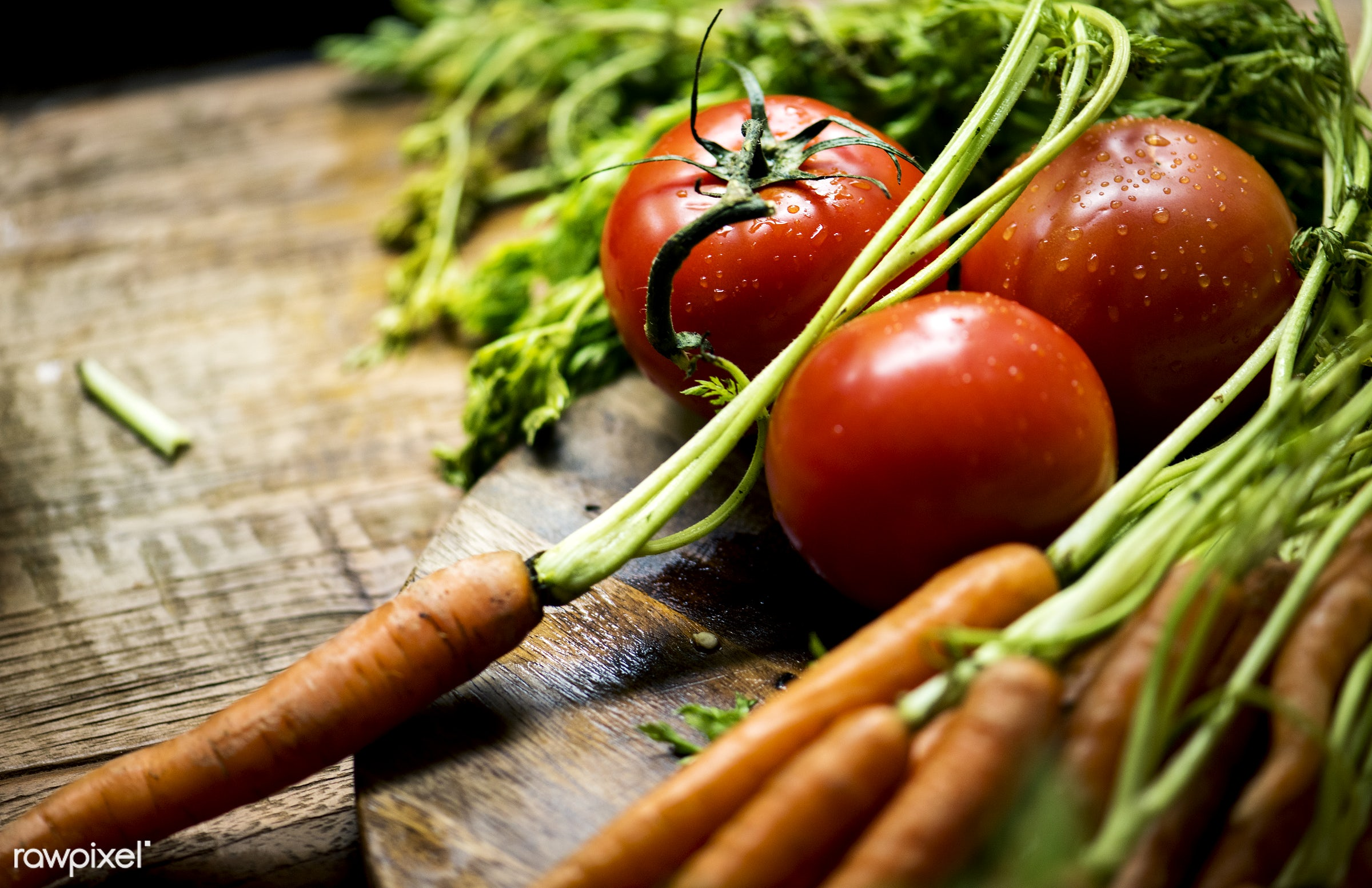 Fresh organic carrots - superfood, nobody, tomato, green, nutrients, real, organic, nature, fresh, carrots, vegetable,...