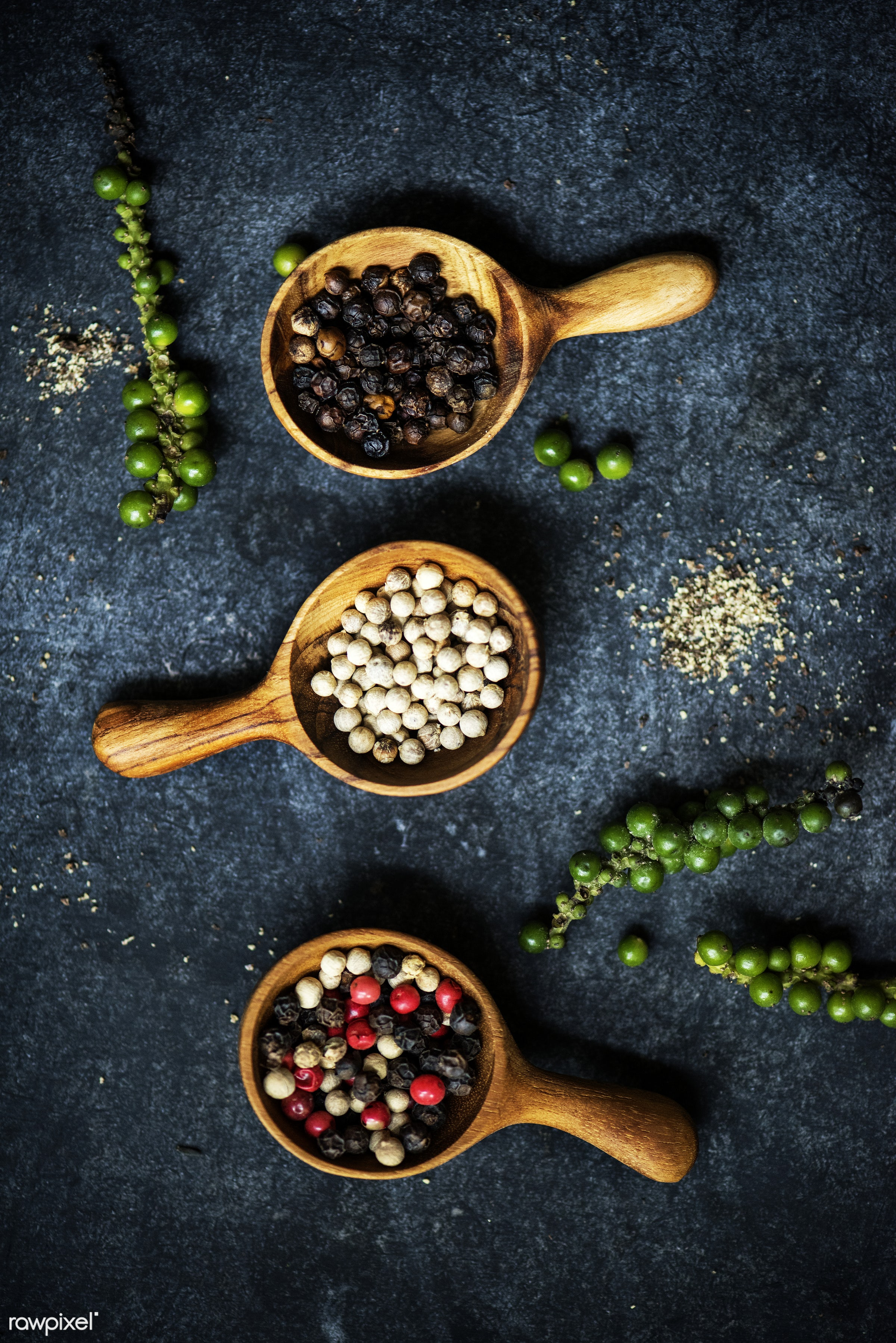 chili pepper, nobody, dry, spoon, spices, asian, white pepper, ingredients, real, seasoning, herb, peppercorns, background,...