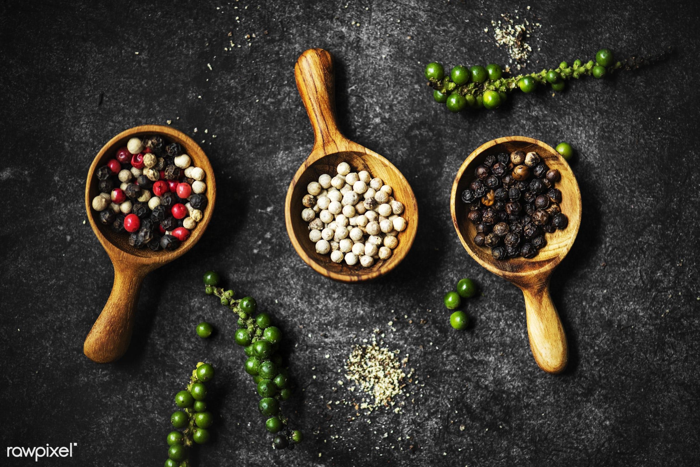 condiment, aroma, recipe, cuisine, choice, spice, powder, pepper, spoon, taste, seasoning, various, ingredient, gourmet,...