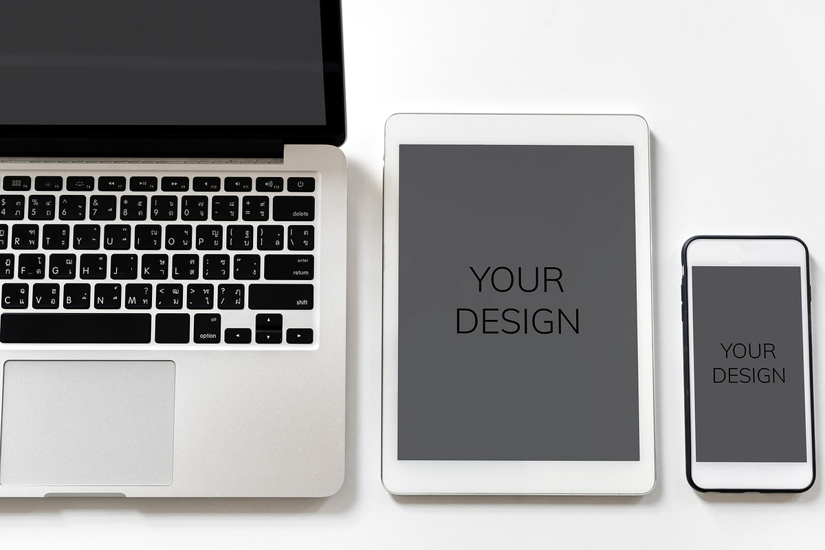 Laptop, tablet and mobile mock up
