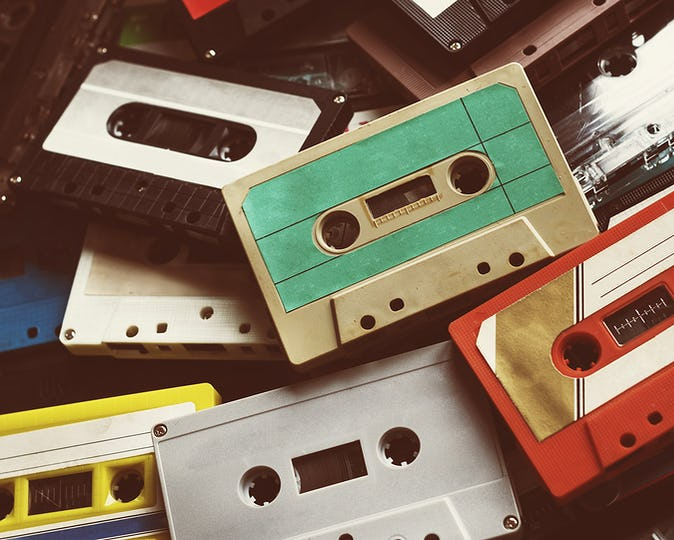 Vintage cassette tapes collection