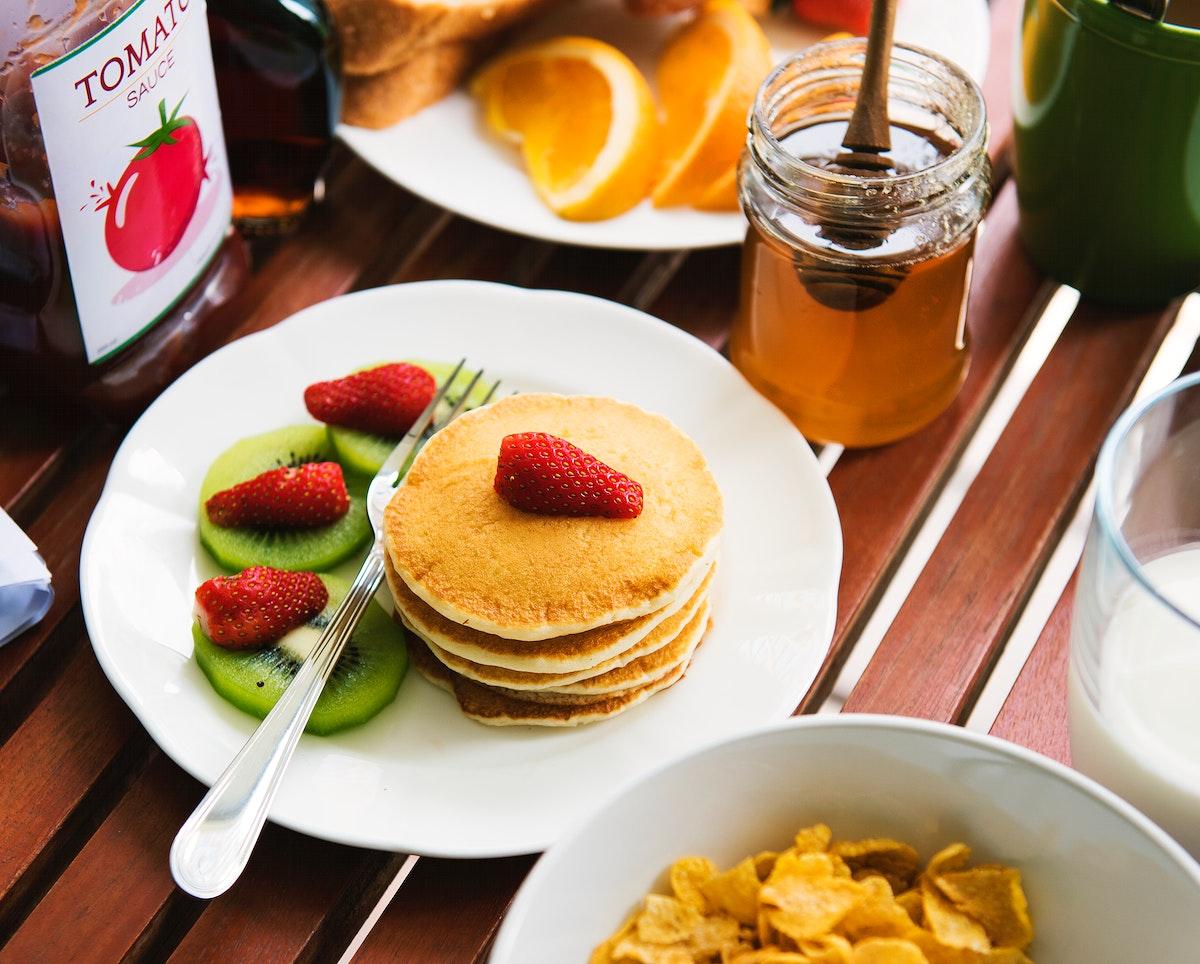 Pancake with breakfast