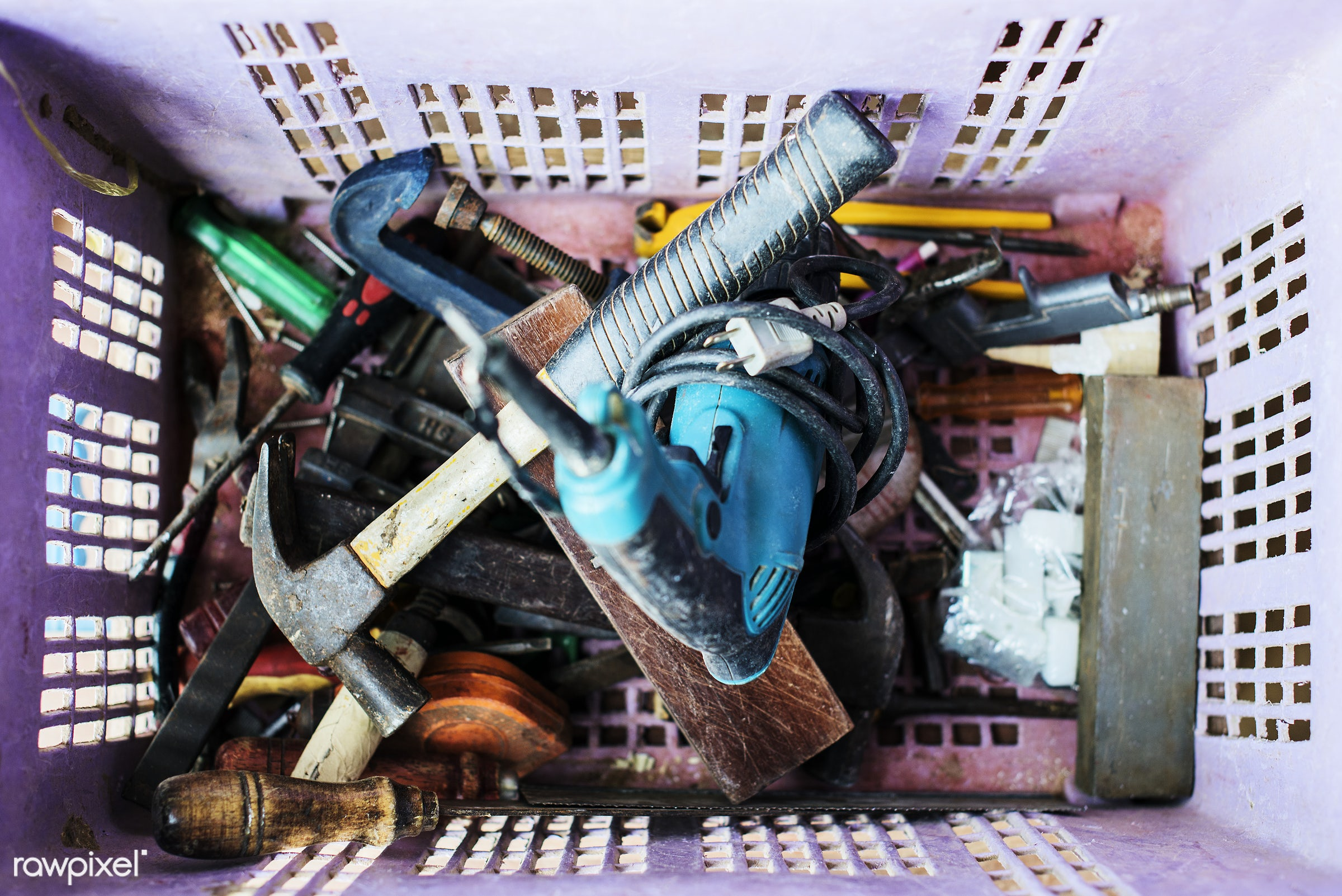 Construction tools - carpentry, construction, craftsman, carpenter, closeup, equipment, handyman, hardware, instrument,...