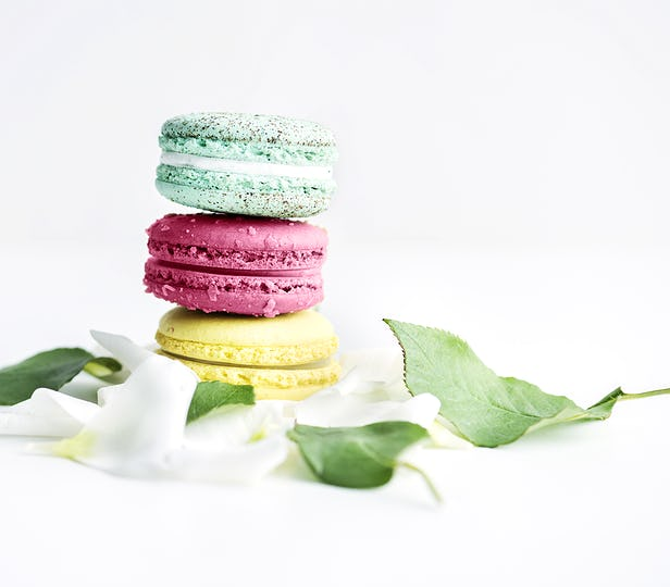 Stack macaroon patel and leaves