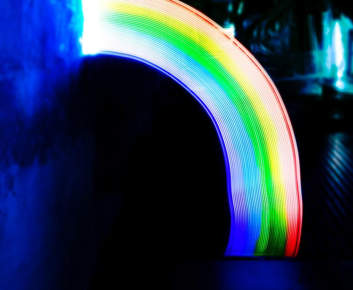 Rainbow lights long exposure technique