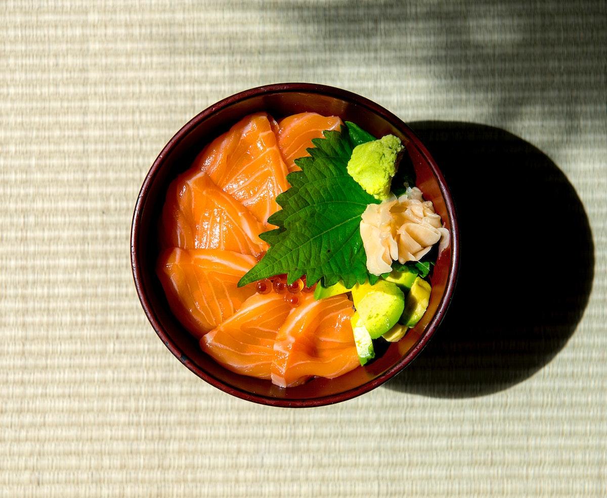 Salmon ikura japanese food healthy