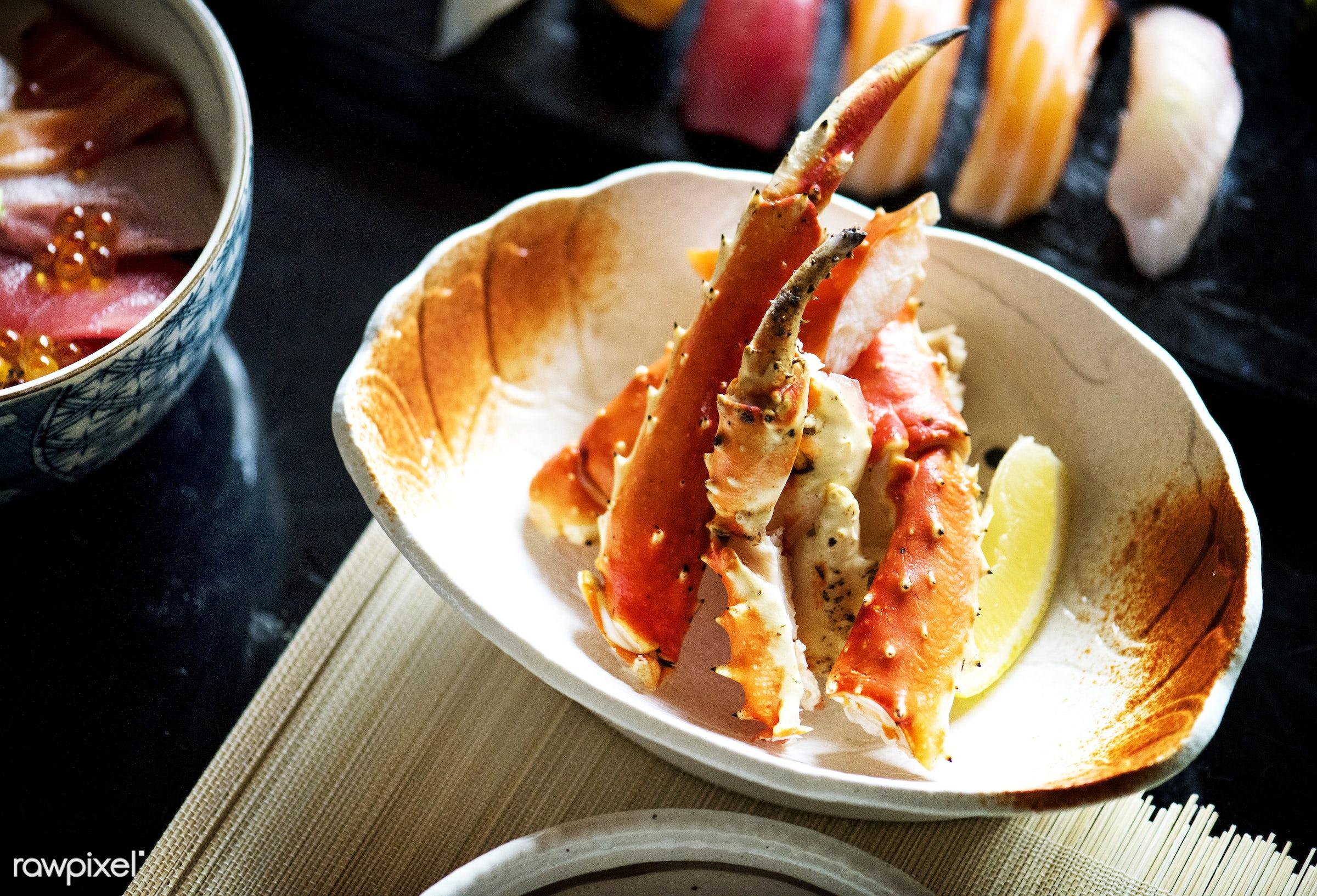 crab, seafood, asia, asian, closeup, crab legs, cuisine, delicious, eating, fish, food, fresh, gourmet, healthy, japan,...
