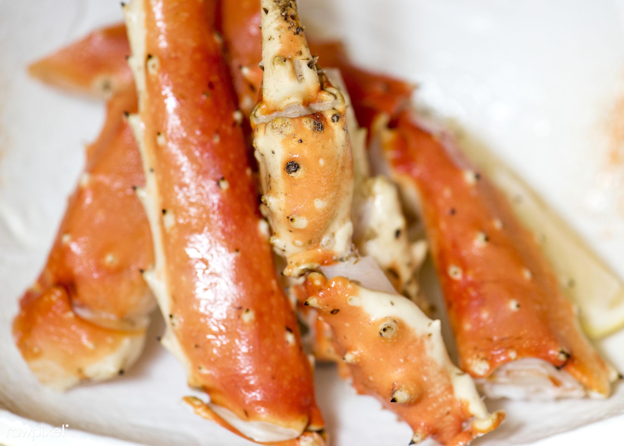 asian, closeup, cuisine, delicious, eating, food, fresh, gourmet, healthy, japanese, japanese food, king crab, leg, meal,...