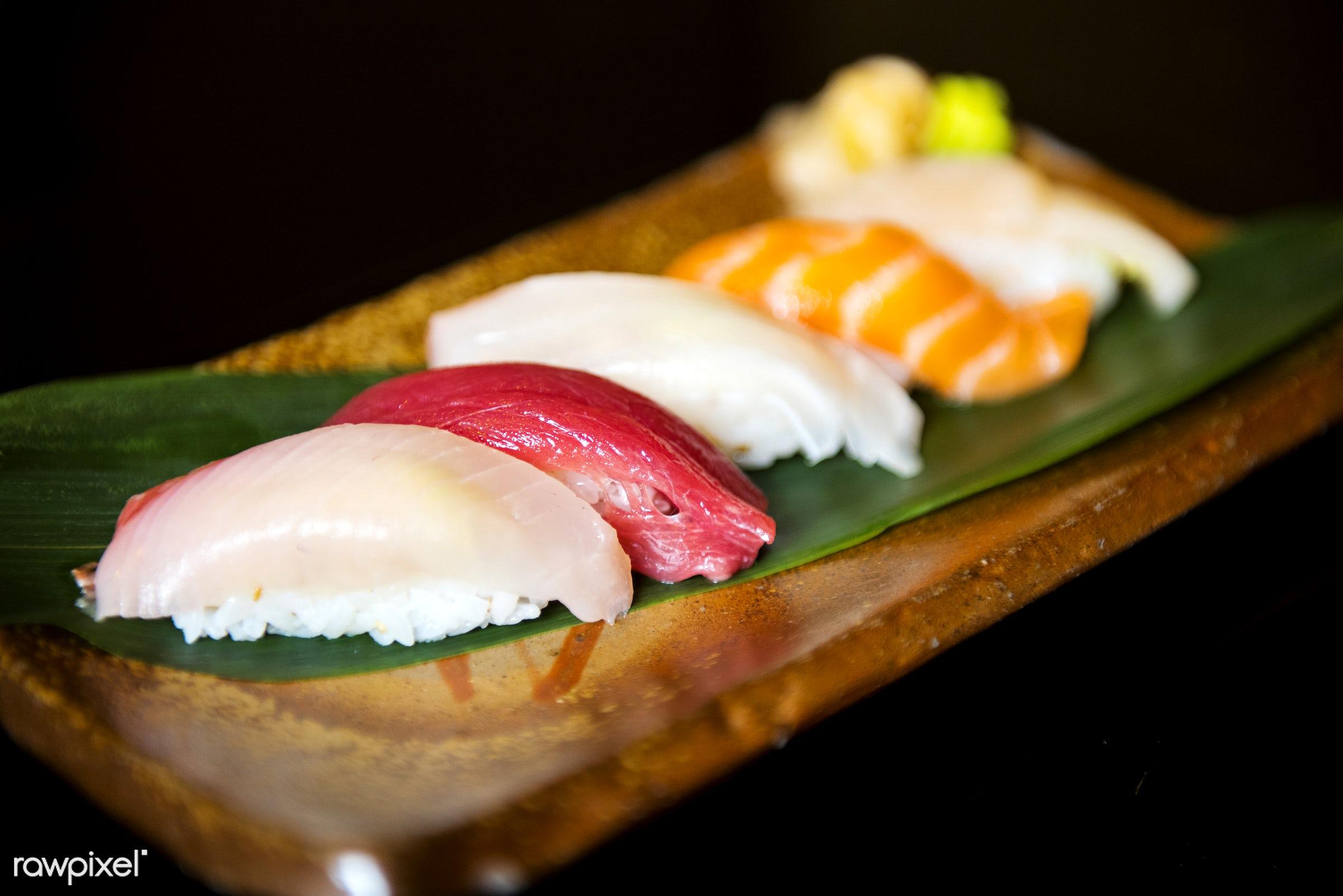 Japanese cuisine - sashimi, tasty, asia, asian, cuisine, delicious, eating, fish, food, fresh, gourmet, healthy, japan,...
