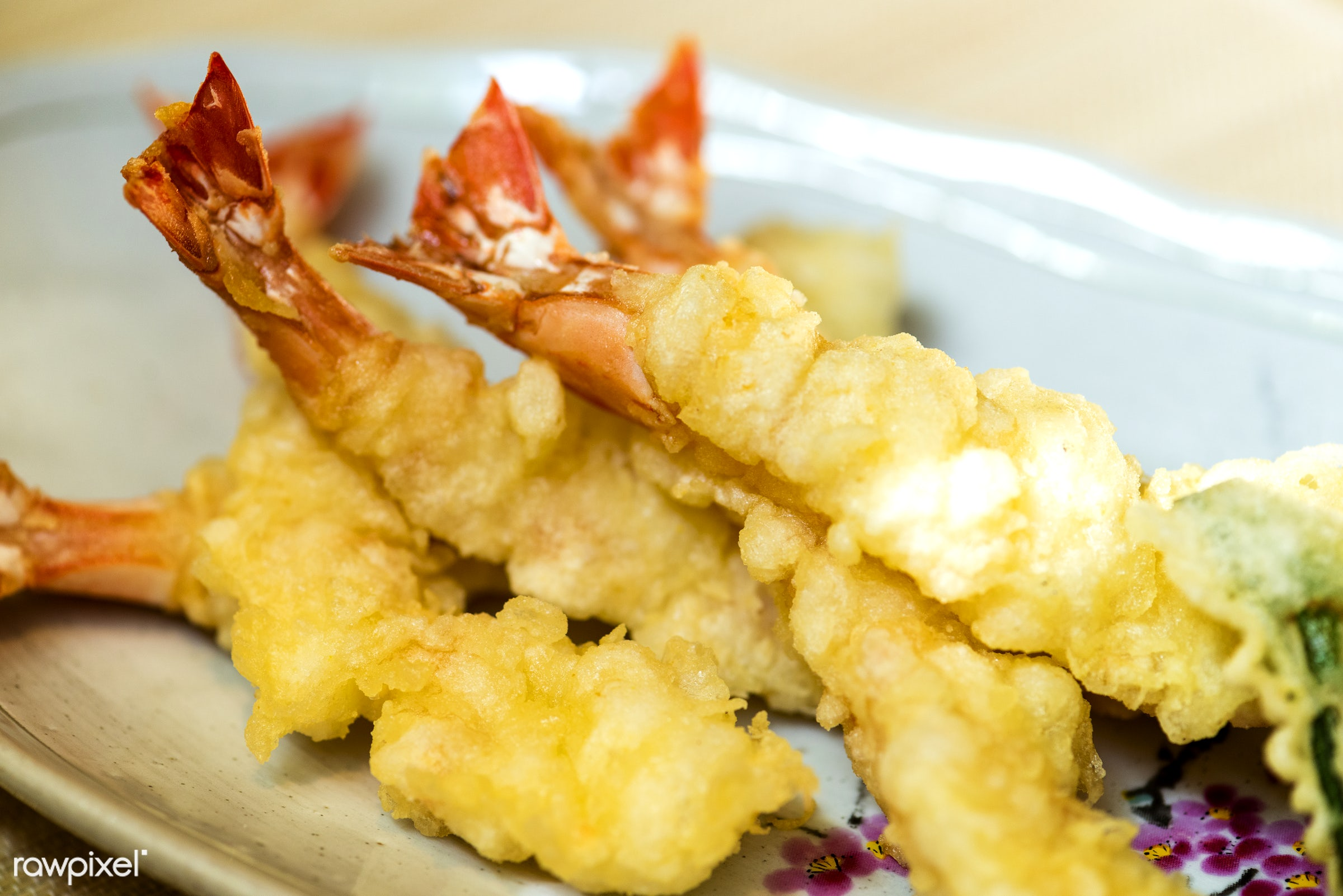 japanese, asian, closeup, crispy tempura battered prawns, cuisine, delicious, eating, food, fresh, gourmet, healthy,...