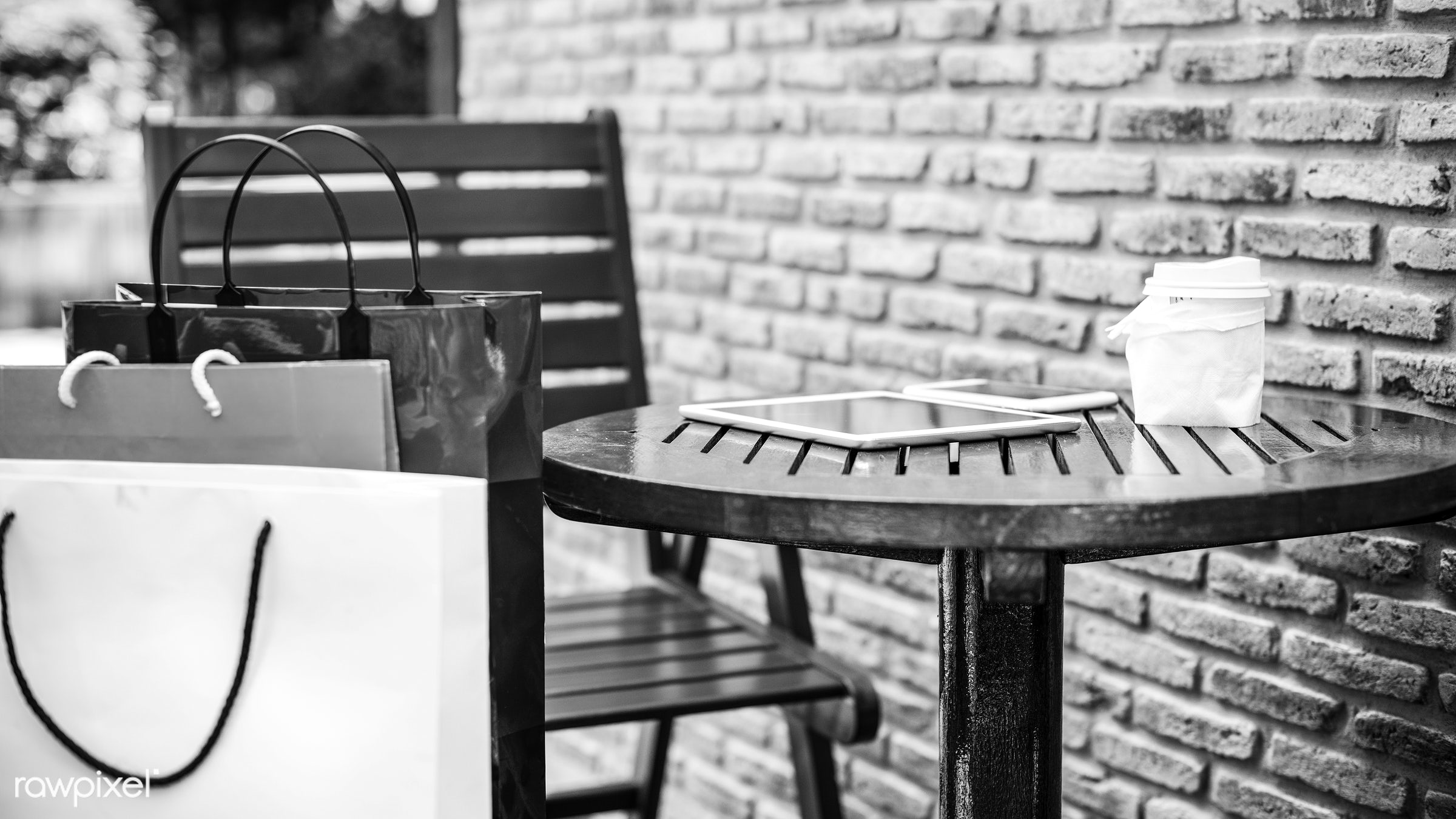 brick, brick wall, buyer, buying, cafe, chair, coffee, coffee shop, commerce, communication, connection, consumer,...